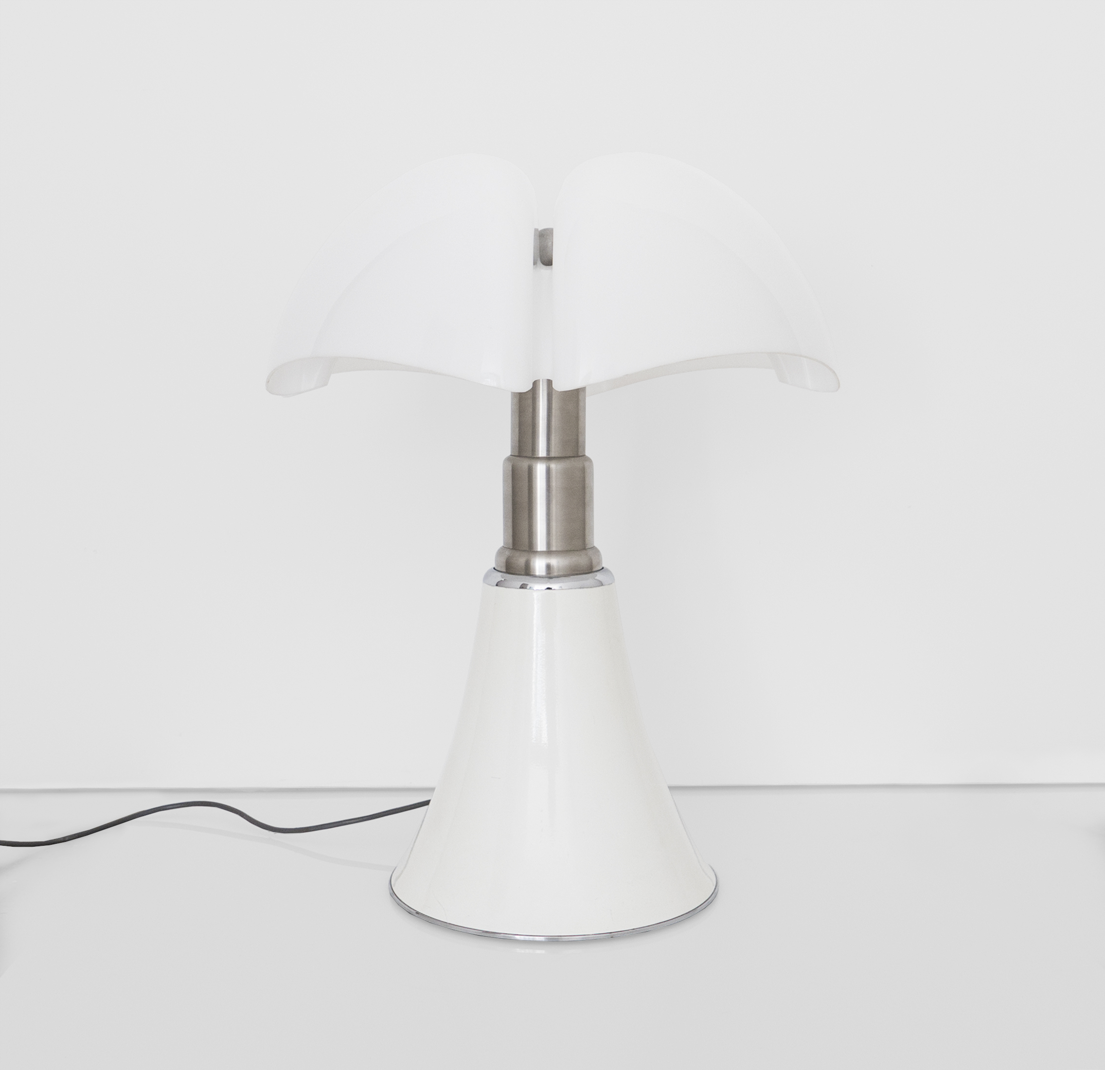 Gae Aulenti, Pipistrello Table Lamp Designed For Martinelli Luce, c. 1960s, Methacrylate, metal, 28 H x 21 Diameter inches_1.jpg