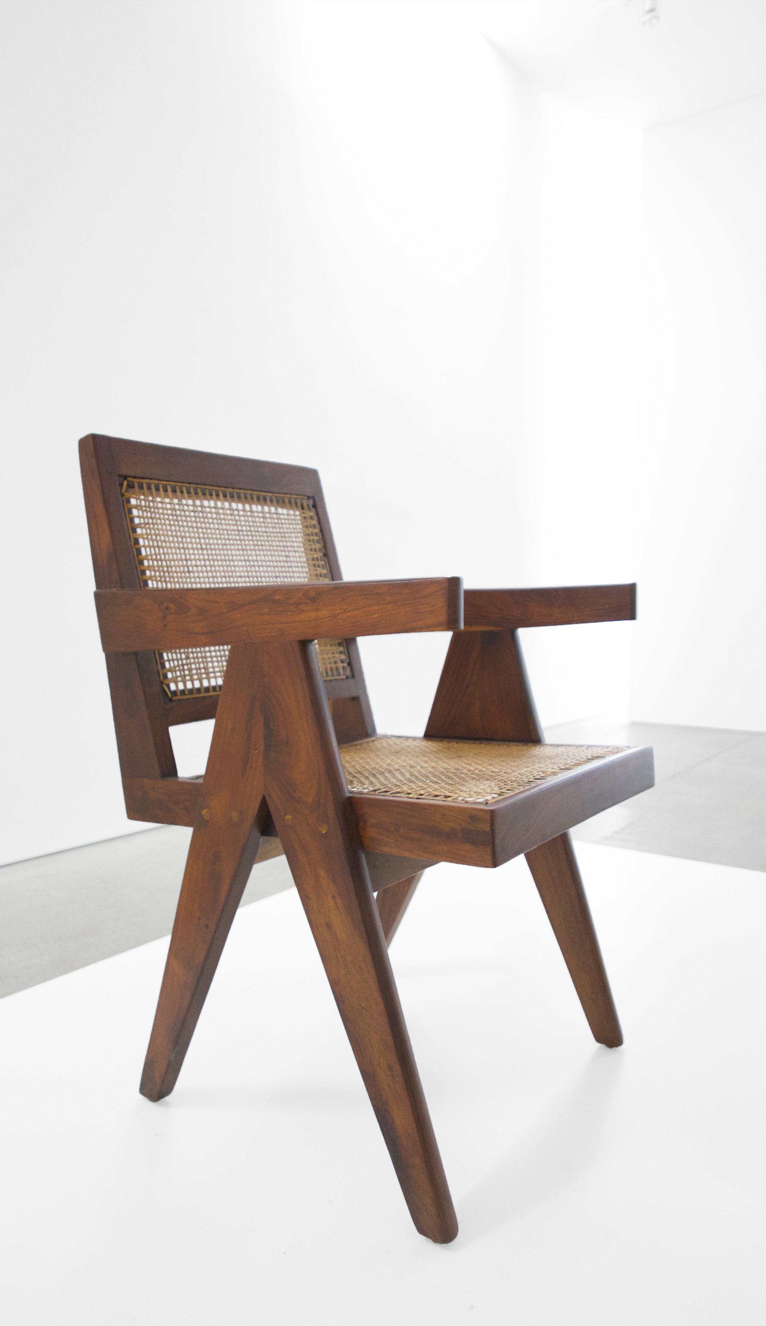 Pierre Jeanneret, Teak Conference Chair from the City of Chandigarh, India, c. 1952, 31 H x 18 W x 19.75 D inches_2.jpg