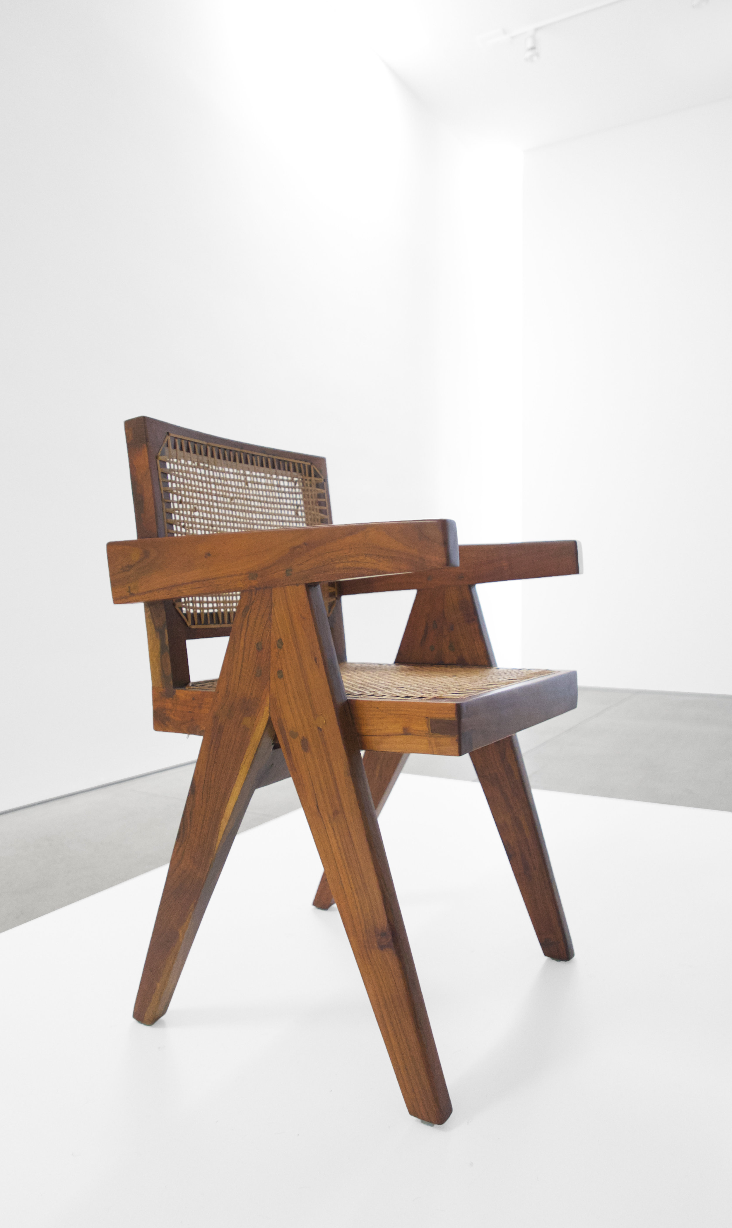 Pierre Jeanneret, Teak Conference Chair from the City of Chandigarh, India, c. 1952, 31 H x 18 W x 19.75 D inches_5.jpg