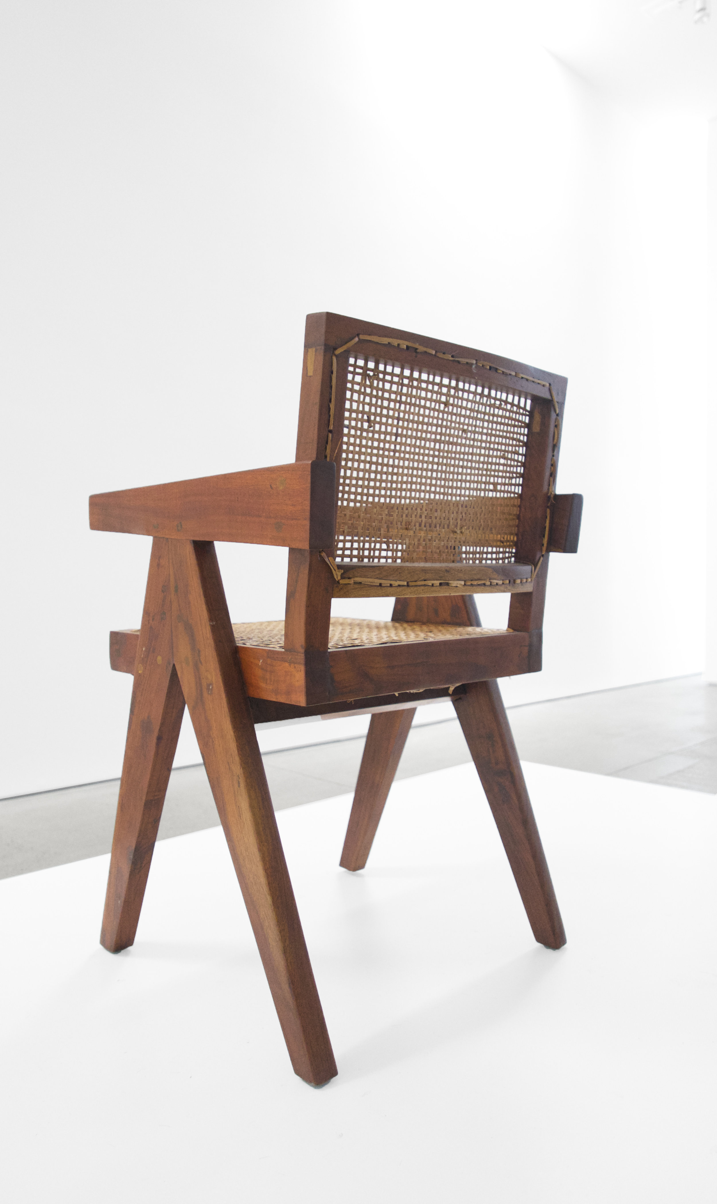 Pierre Jeanneret, Teak Conference Chair from the City of Chandigarh, India, c. 1952, 31 H x 18 W x 19.75 D inches_6.jpg