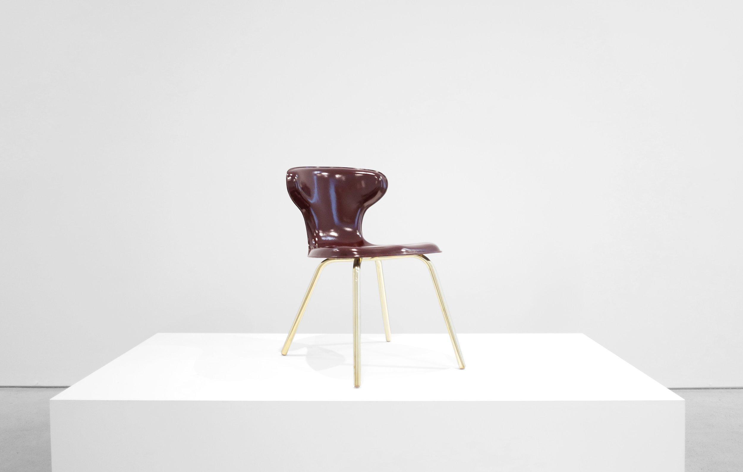1. Egmont Arens, 'Fiberglass Chair,' fiberglass, vinyl, steel, 30.5H x 17.5L x 20W inches.jpg