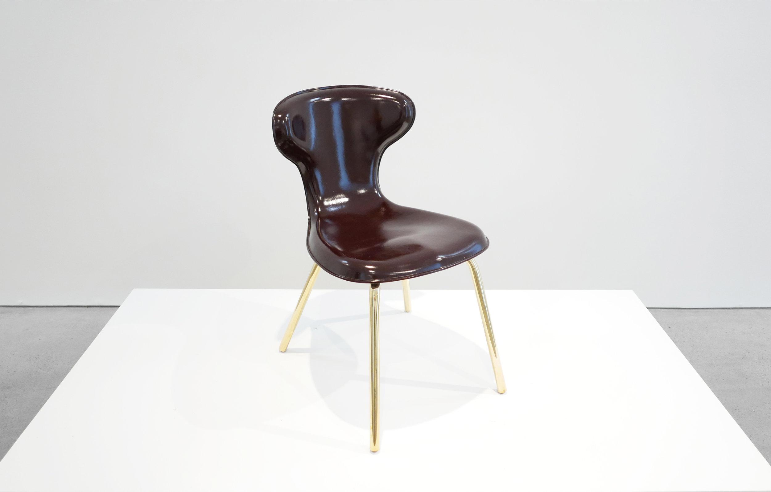 3. Egmont Arens, 'Fiberglass Chair,' fiberglass, vinyl, steel, 30.5H x 17.5L x 20W inches.jpg