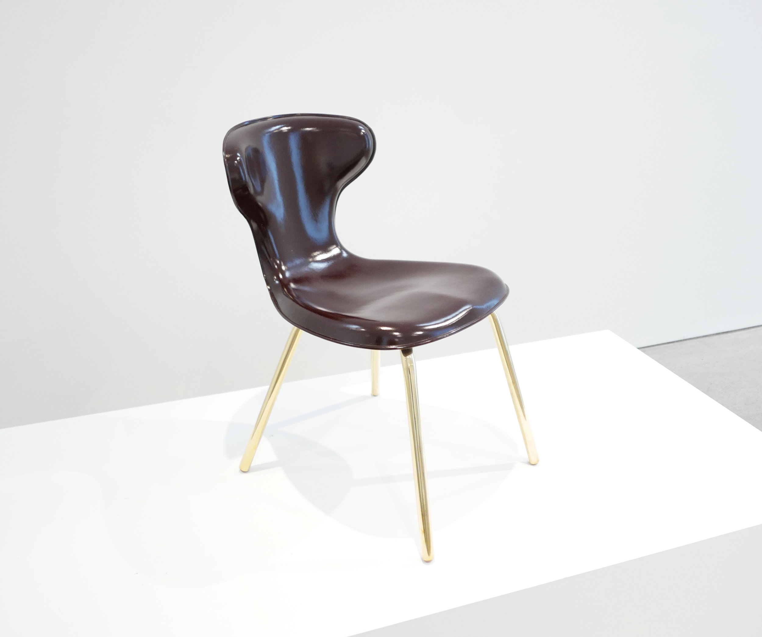 4. Egmont Arens, 'Fiberglass Chair,' fiberglass, vinyl, steel, 30.5H x 17.5L x 20W inches.jpg