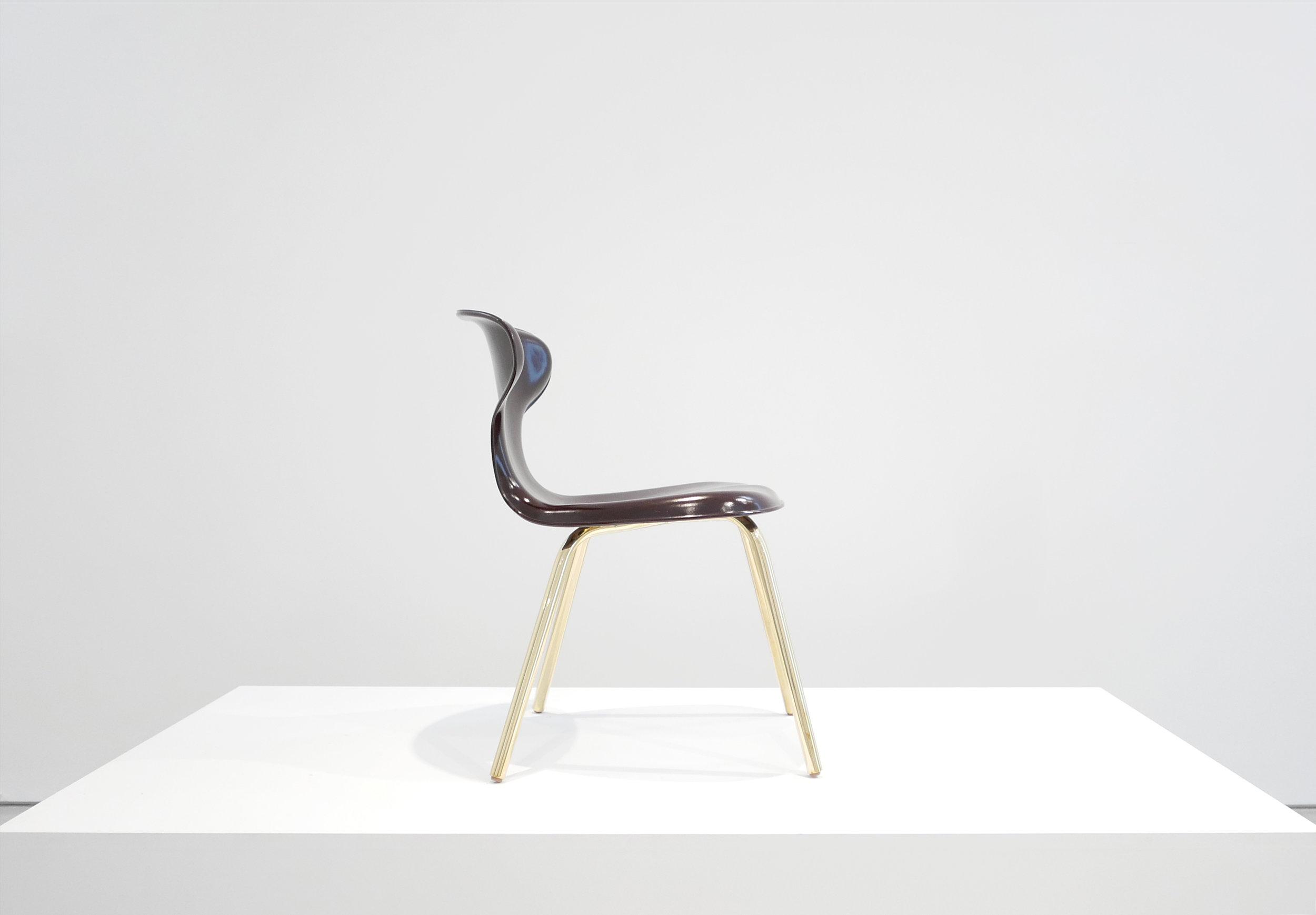 5. Egmont Arens, 'Fiberglass Chair,' fiberglass, vinyl, steel, 30.5H x 17.5L x 20W inches.jpg