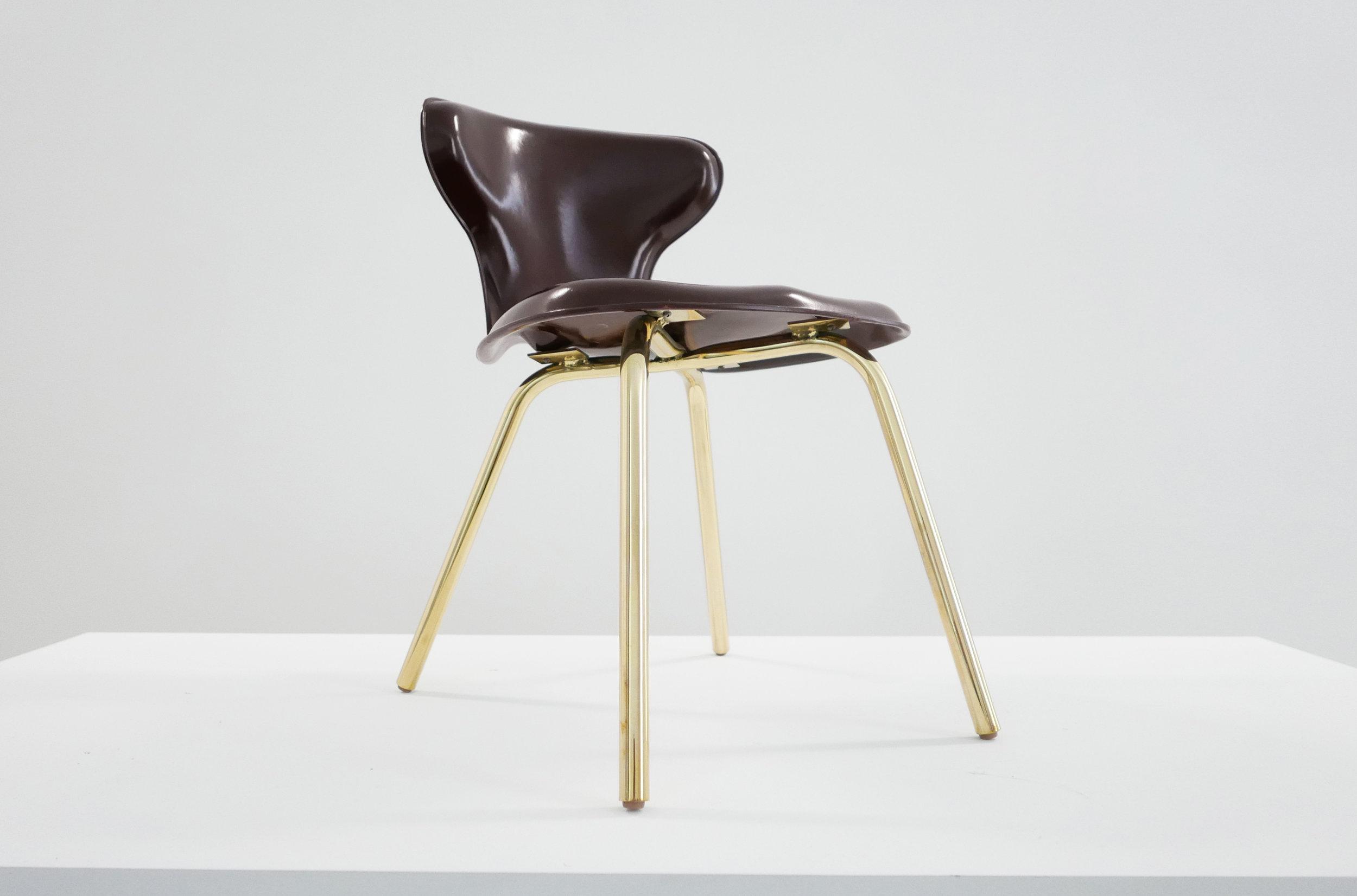 6. Egmont Arens, 'Fiberglass Chair,' fiberglass, vinyl, steel, 30.5H x 17.5L x 20W inches.jpg