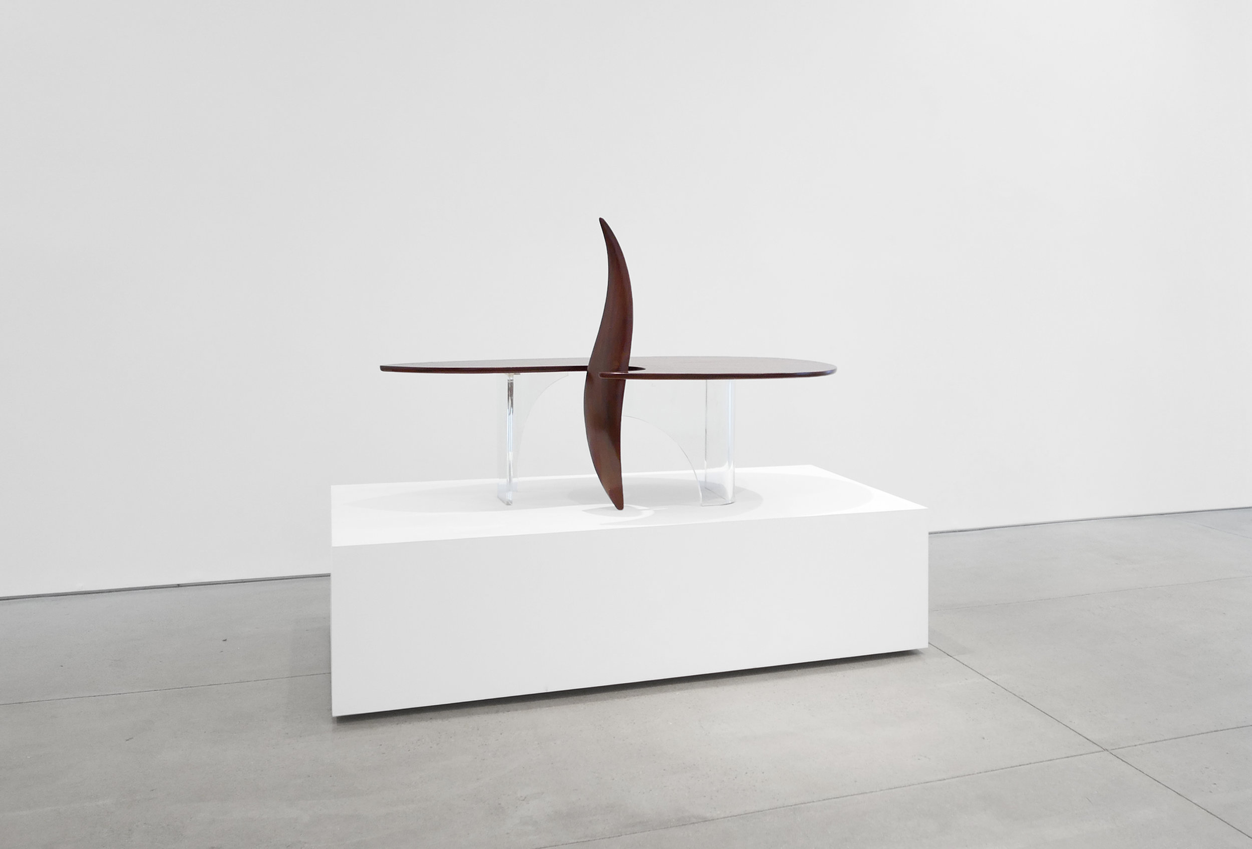 3. Michael Coffey, 'Encounter' Coffee Table, c. 1979, lucite, wood, 35H x 60W x 29D inches.jpg