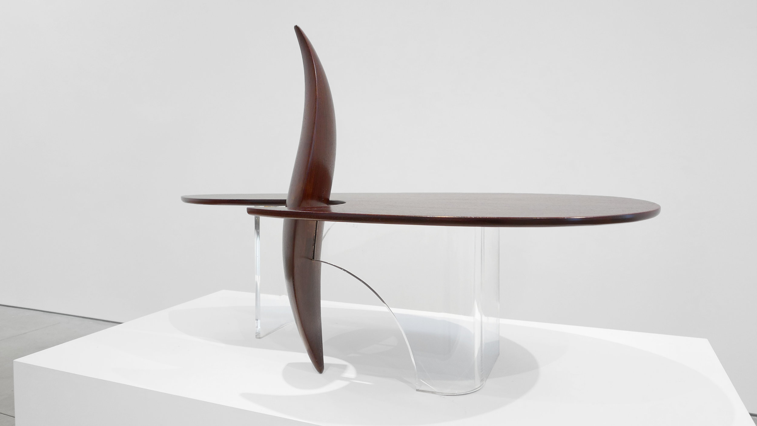 7. Michael Coffey, 'Encounter' Coffee Table, c. 1979, lucite, wood, 35H x 60W x 29D inches.jpg