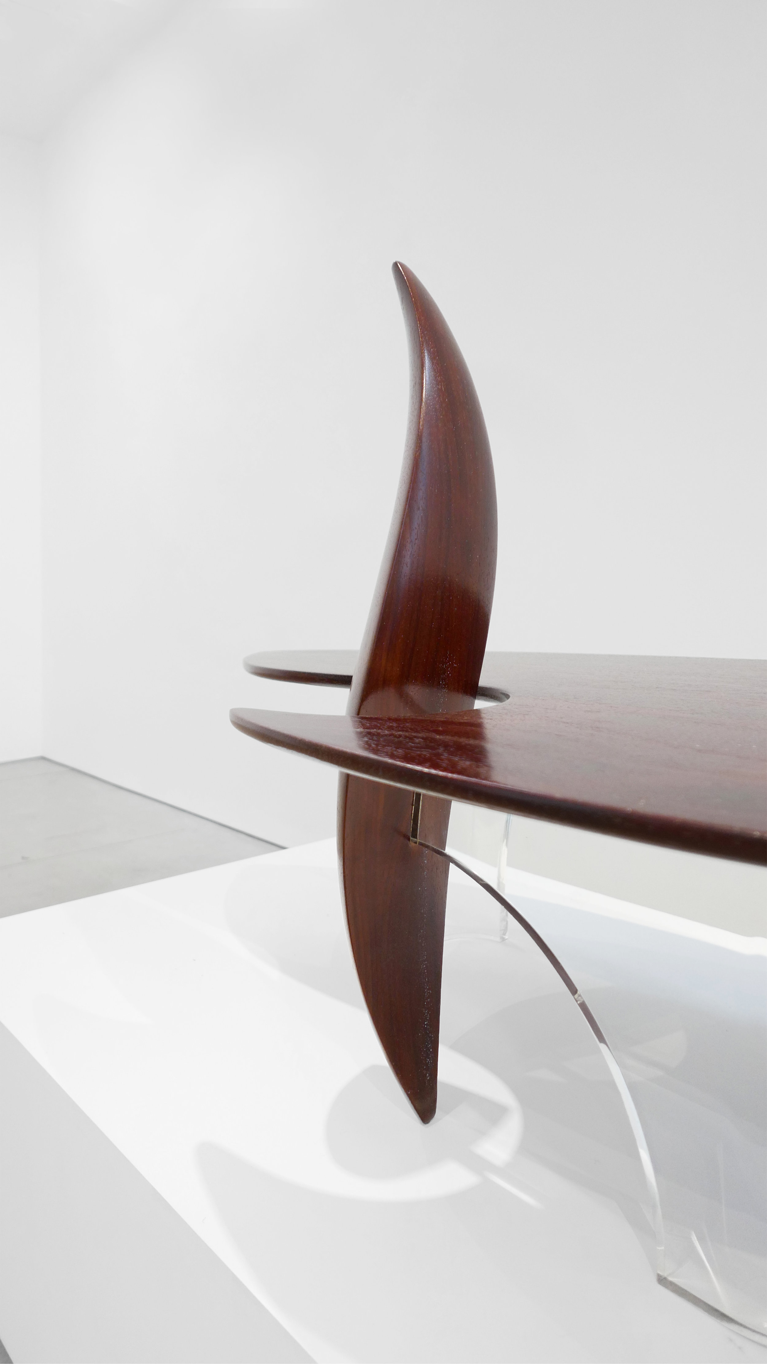 8. Michael Coffey, 'Encounter' Coffee Table, c. 1979, lucite, wood, 35H x 60W x 29D inches.jpg
