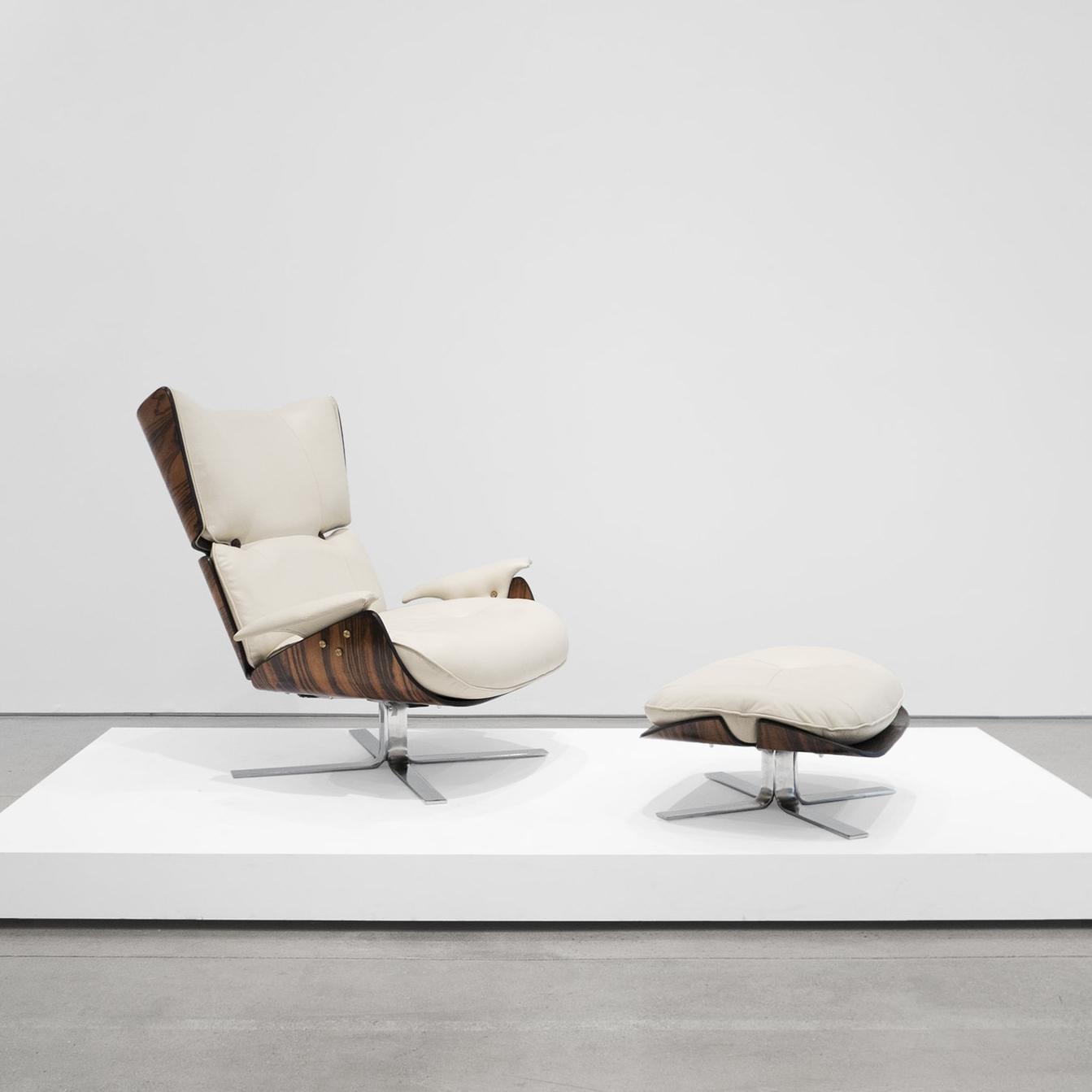 JORGE zalszupin  paulistana lounge chair and ottoman  1956 - 1965 ...
