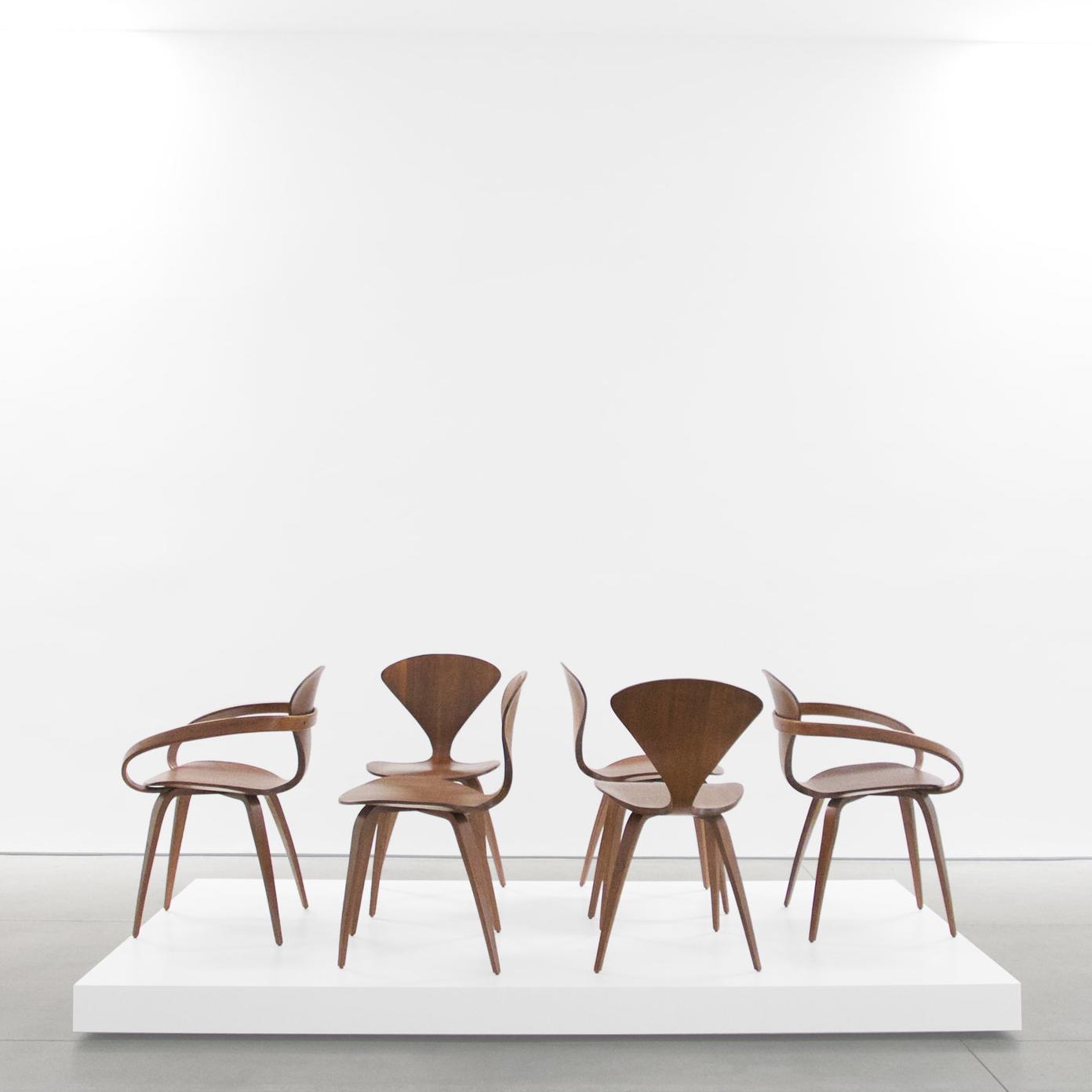 norman cherner  pretzel chairs (6)  1958 ...