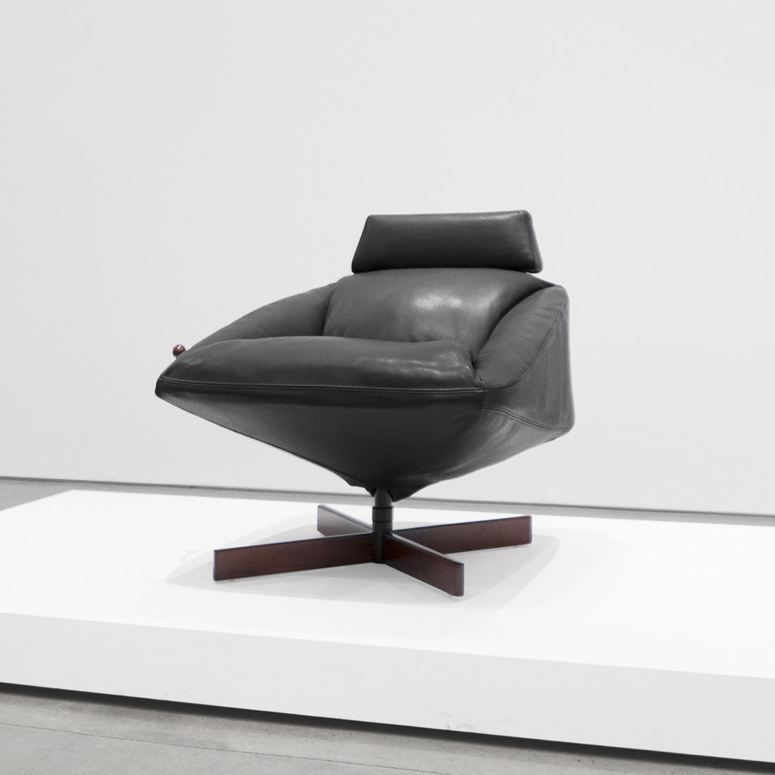 percival lafer  leather armchair  ...