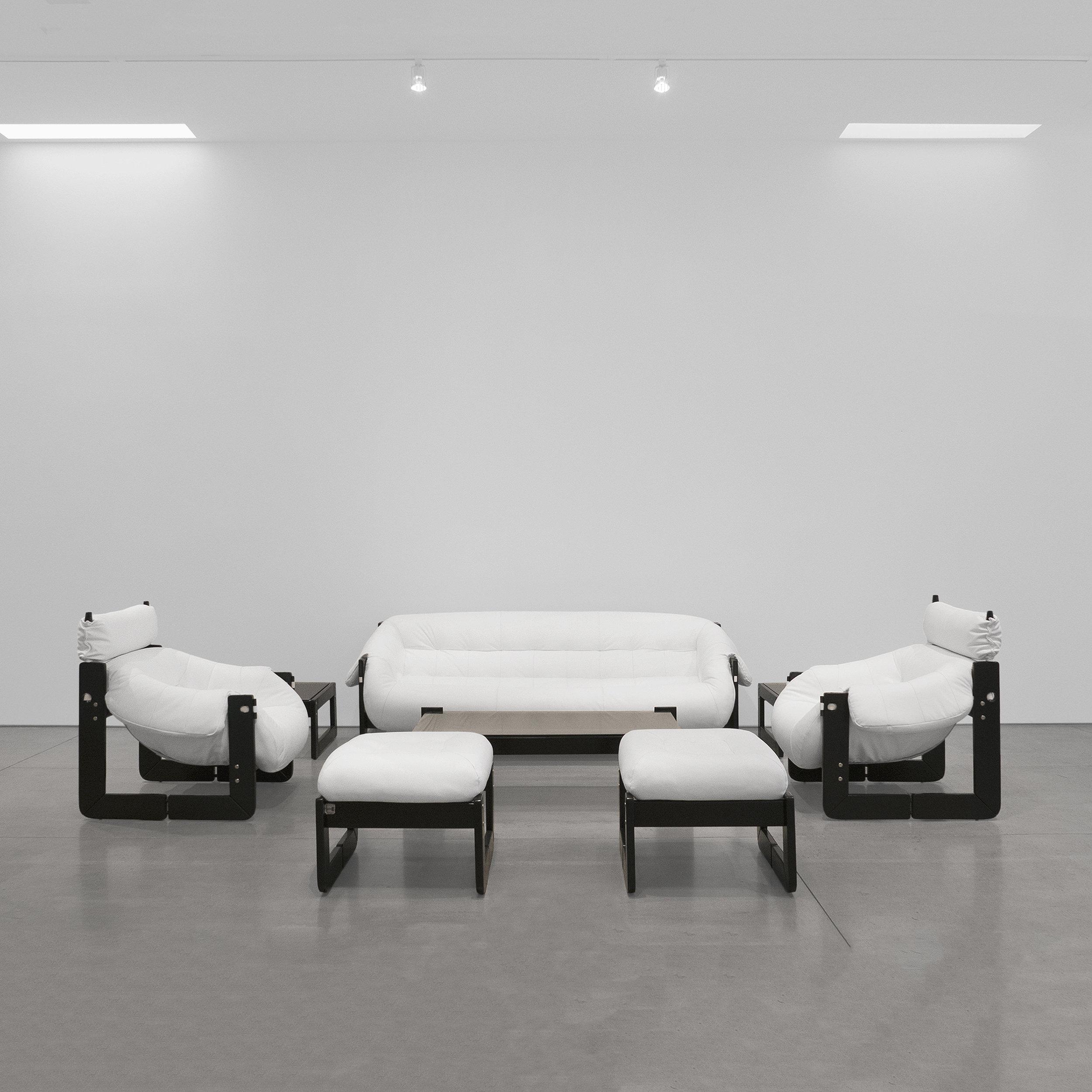percival lafer  Club sofa set  c. 1970s ...