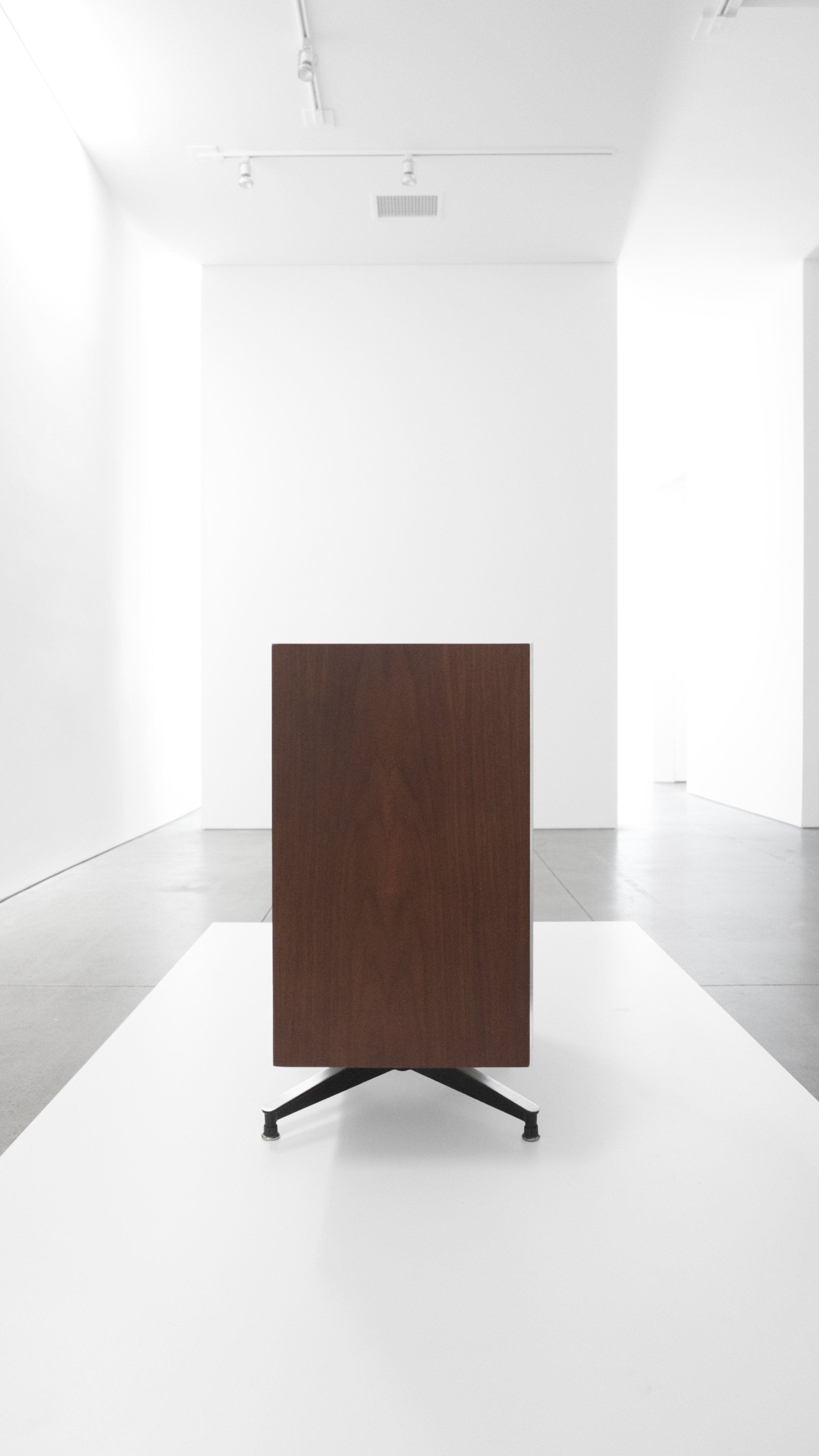 4. Charles and Ray Eames, EAMES Speaker, 1956, lacquered wood, laminate, polished and enameled aluminum, 28.5H x 30W x 13.5D inches.jpg