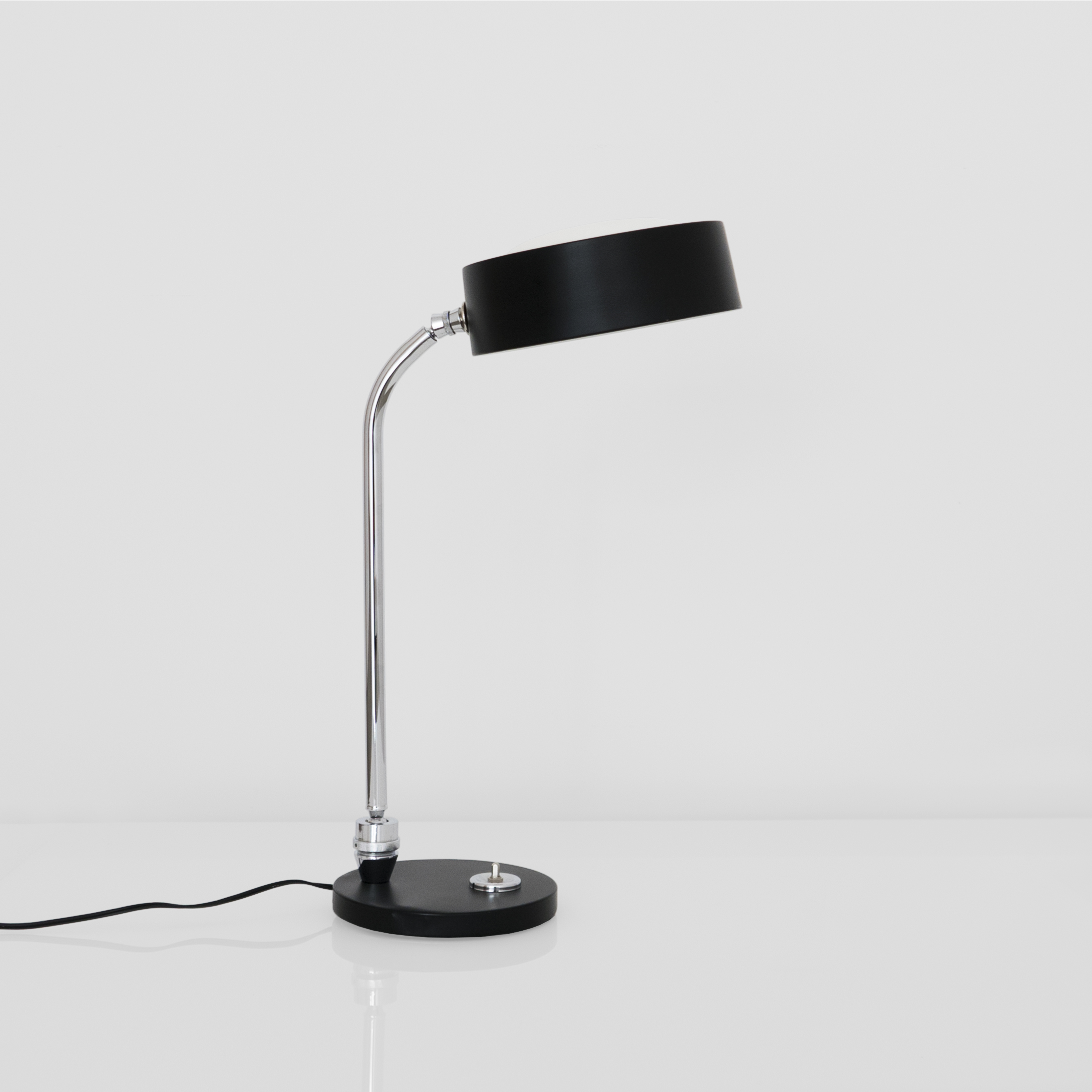 Charlotte Perriand, Table Lamp, c. 1960s, Chromed and lacquered metal, 21.5H x 7 Diameter inches_1.jpg