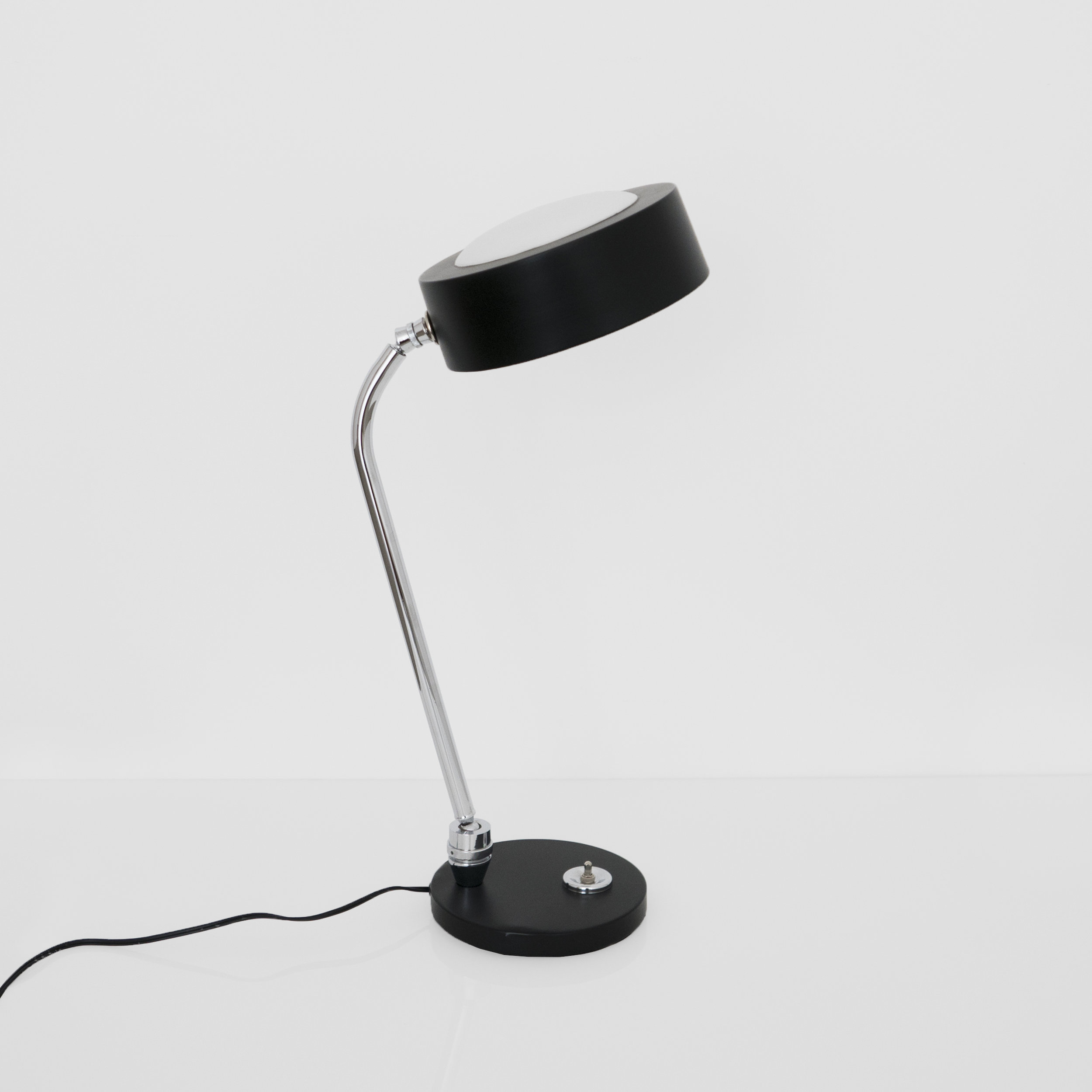 Charlotte Perriand, Table Lamp, c. 1960s, Chromed and lacquered metal, 21.5H x 7 Diameter inches_2.jpg