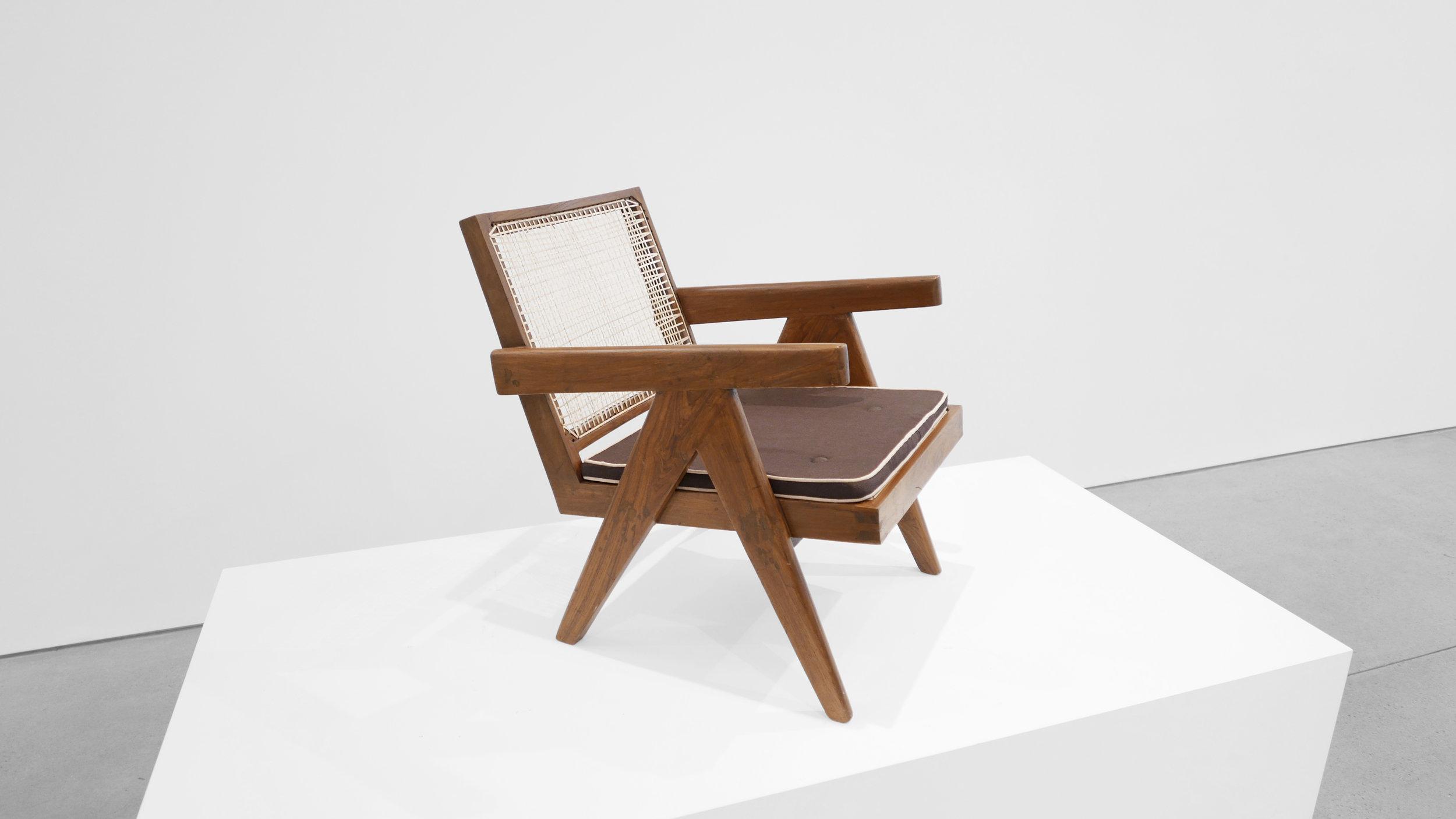 Pierre Jeanneret, Low lounge chair, model PJ-SI-29-A, c. 1955, teak, cane, 24.5H x 20.5W x 29.5D inches_3.jpg