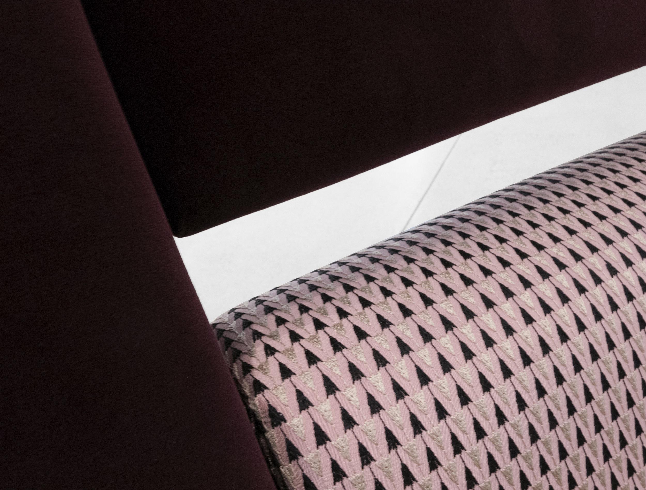 Gigi Radice, Chairs for Minotti, c. 1950 - 1959, Brass, Dedar Milano Upholstery, 31 H x 28 W x 29 D inches_5.jpg