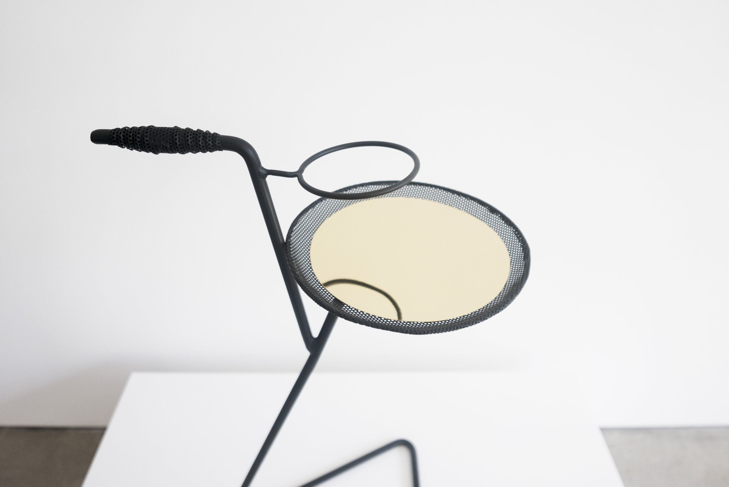 Mathieu Mategot, Flying Table with Glass Holder, 26.75 H x 15.75 W x 15.75 D inches_2.jpg