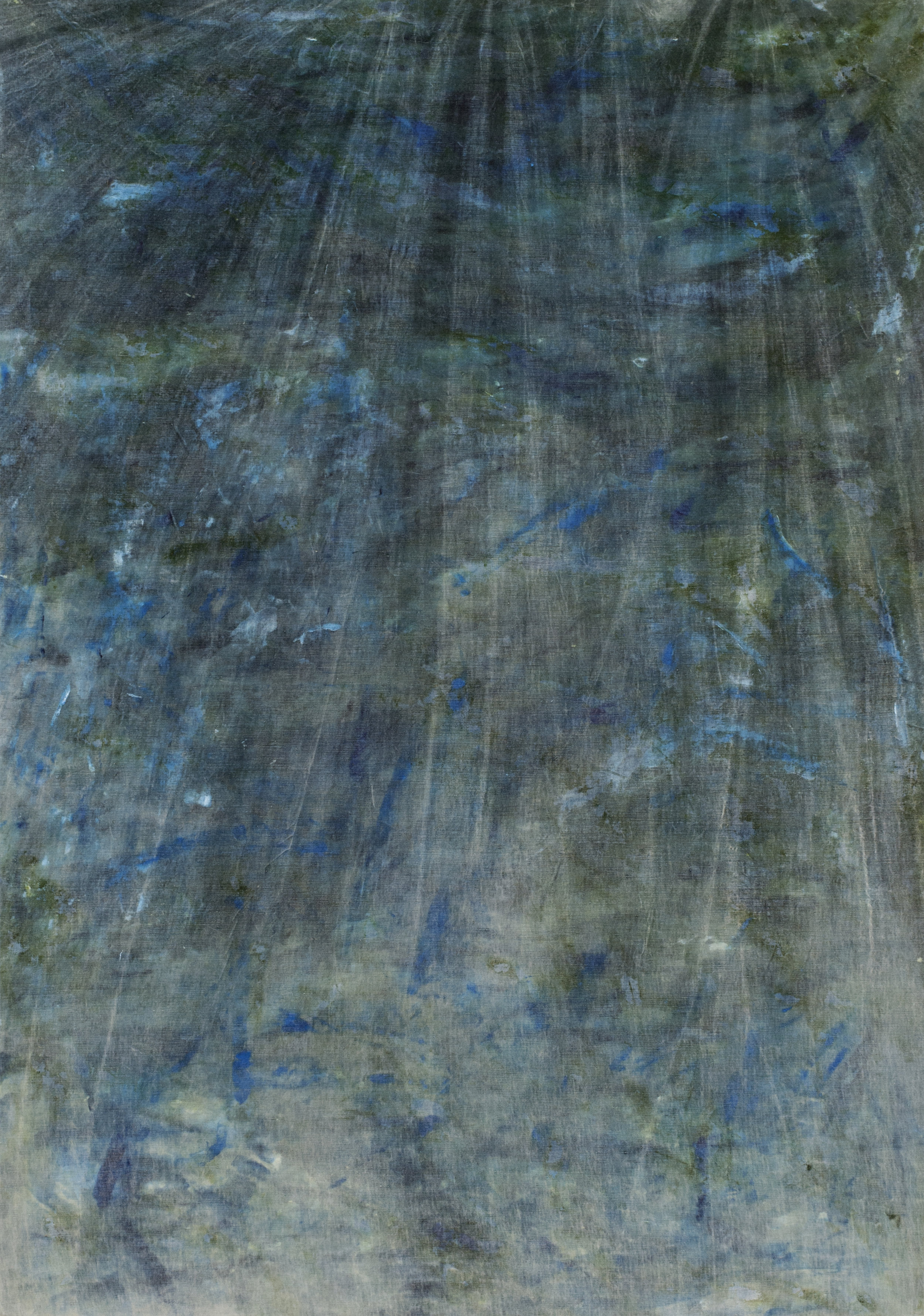 """monumental moving barriers  2018 mixed media on linen 110 x 76""""   INQUIRE"""