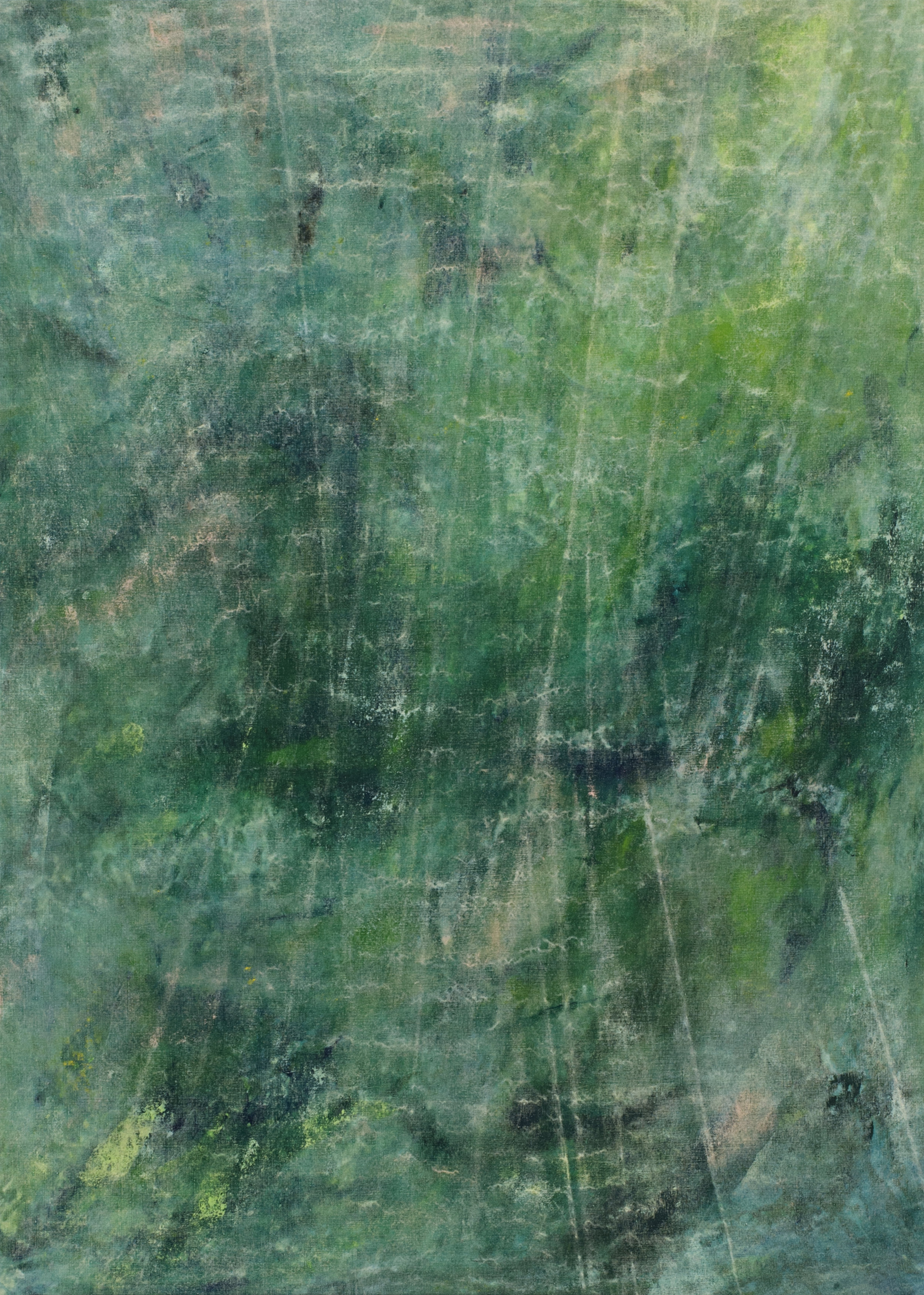 """at the journey's end, the map described with those words of magic: """"Forest"""" and """"Unexplored""""  2018 mixed media on linen 68 x 48""""   INQUIRE"""