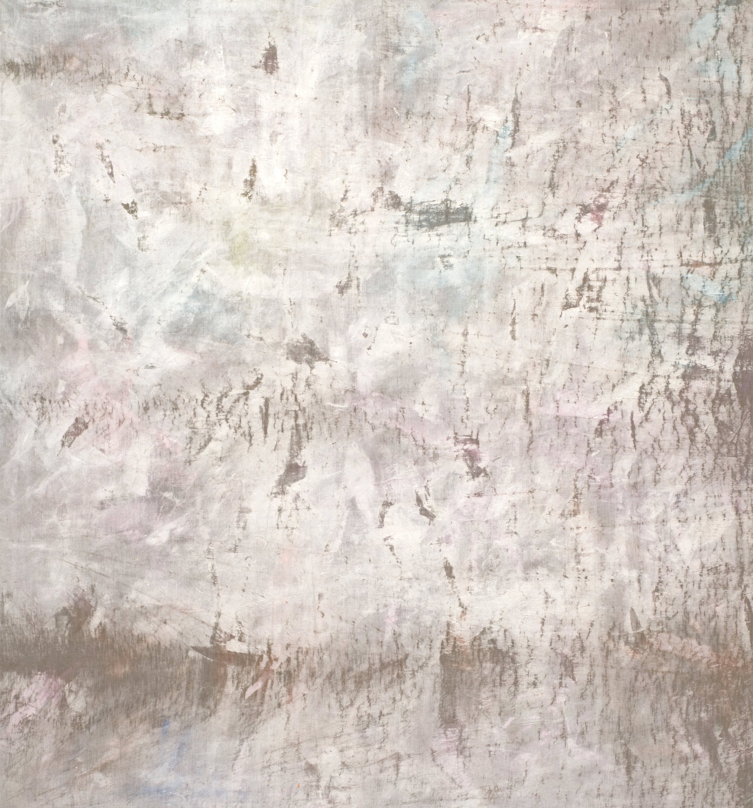 """upon occasion the dreams fought through  2018 mixed media on linen 84 x 78""""   INQUIRE"""