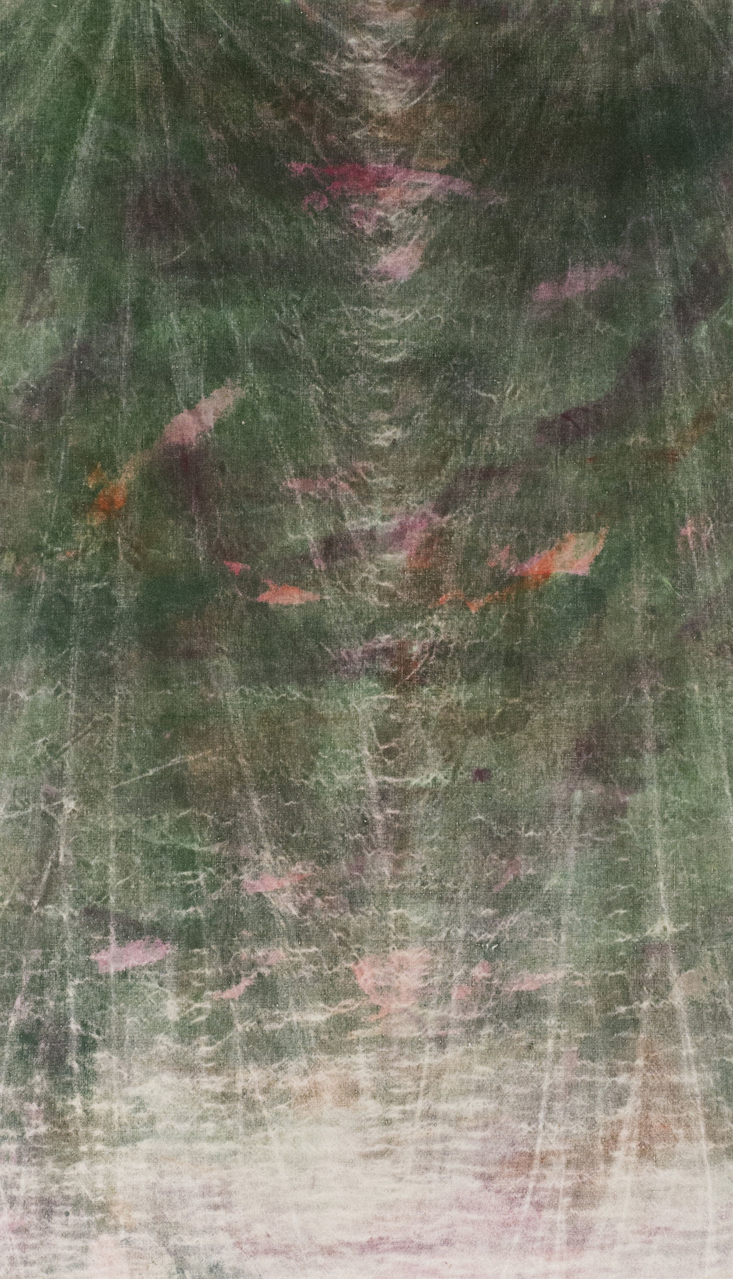 """collective efforts  2018 mixed media on linen 46 x 26""""   INQUIRE"""