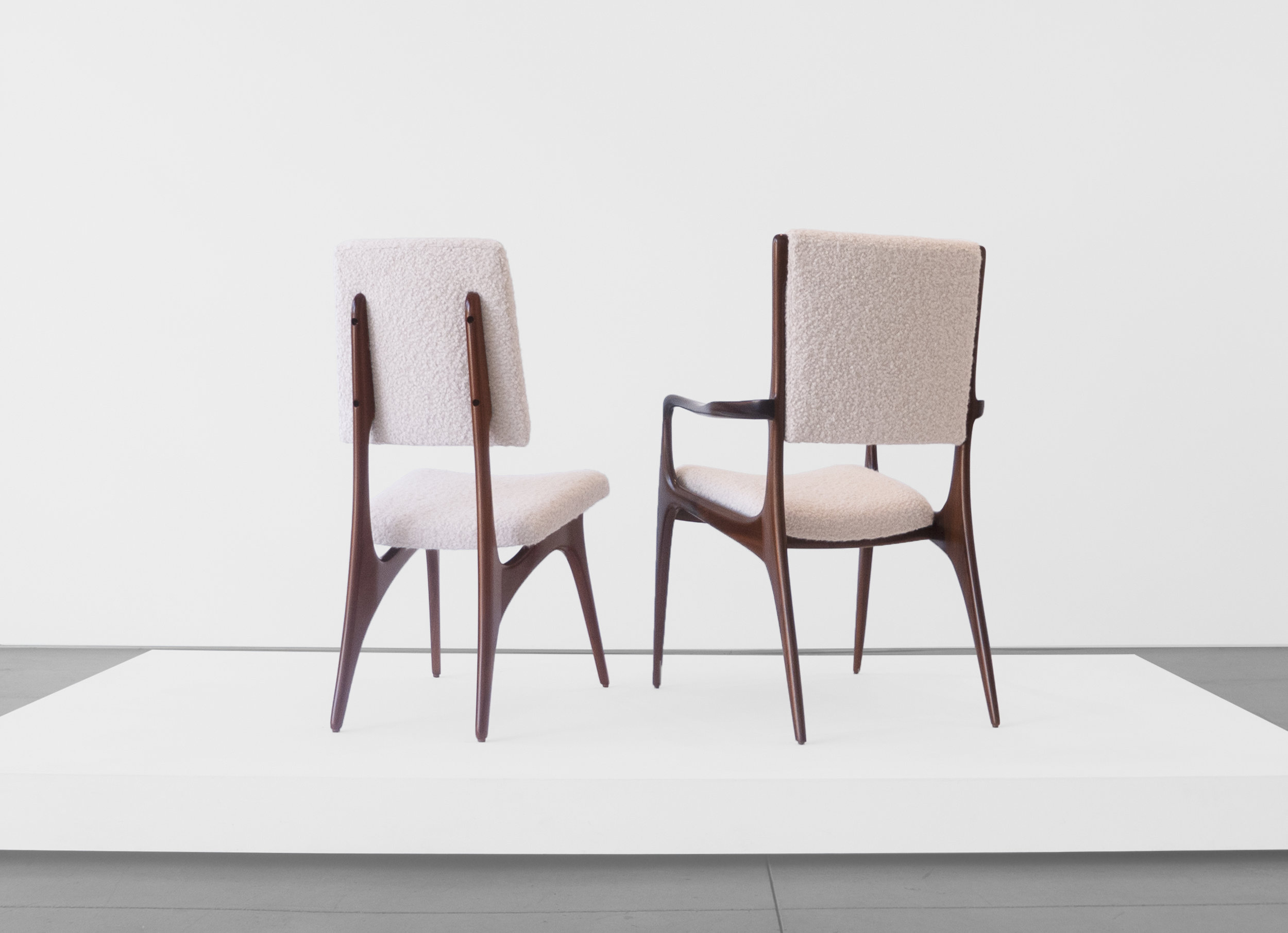 Vladimir Kagan Designed for Dreyfuss, Dining Chairs, c. 1950-1959, Walnut, Upholstery, 36.5 H x 24 W x 25 D inches_4.jpg