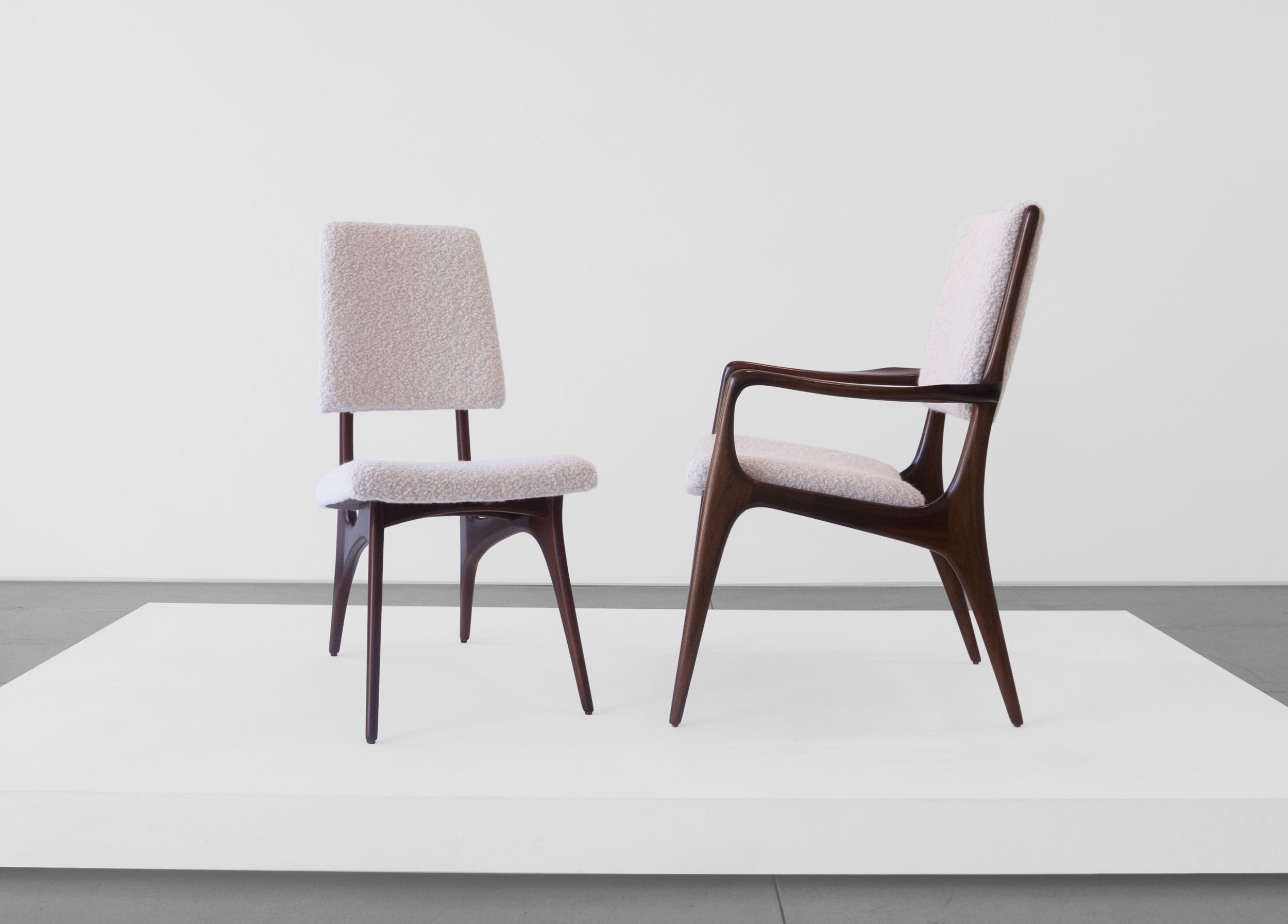 Vladimir Kagan Designed for Dreyfuss, Dining Chairs, c. 1950-1959, Walnut, Upholstery, 36.5 H x 24 W x 25 D inches_3.jpg