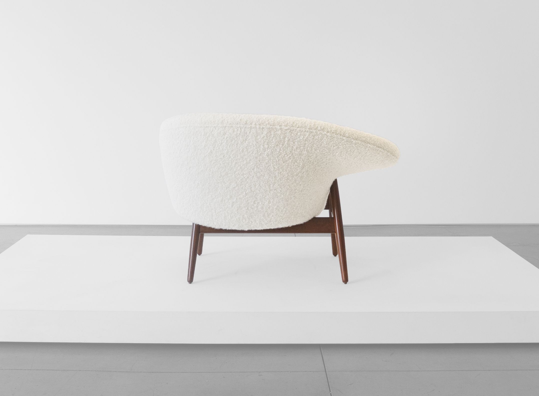 """Hans Olsen, """"Fried Egg"""" Chair 2, c. 1956, Teak, Upholstery, 26 H x 40 W x 30 D inches_4.jpg"""