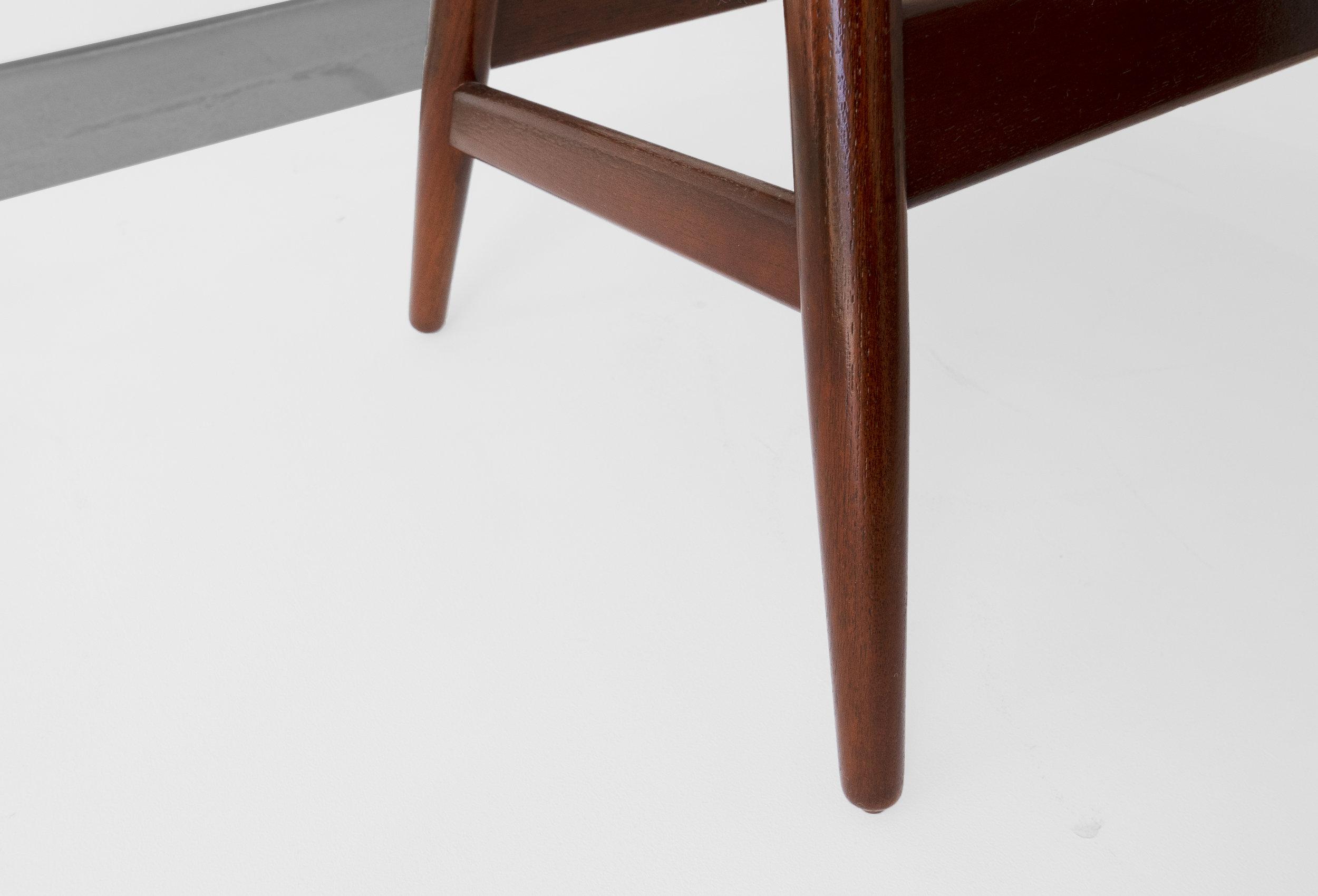 """Hans Olsen, """"Fried Egg"""" Chair 2, c. 1956, Teak, Upholstery, 26 H x 40 W x 30 D inches_7.jpg"""