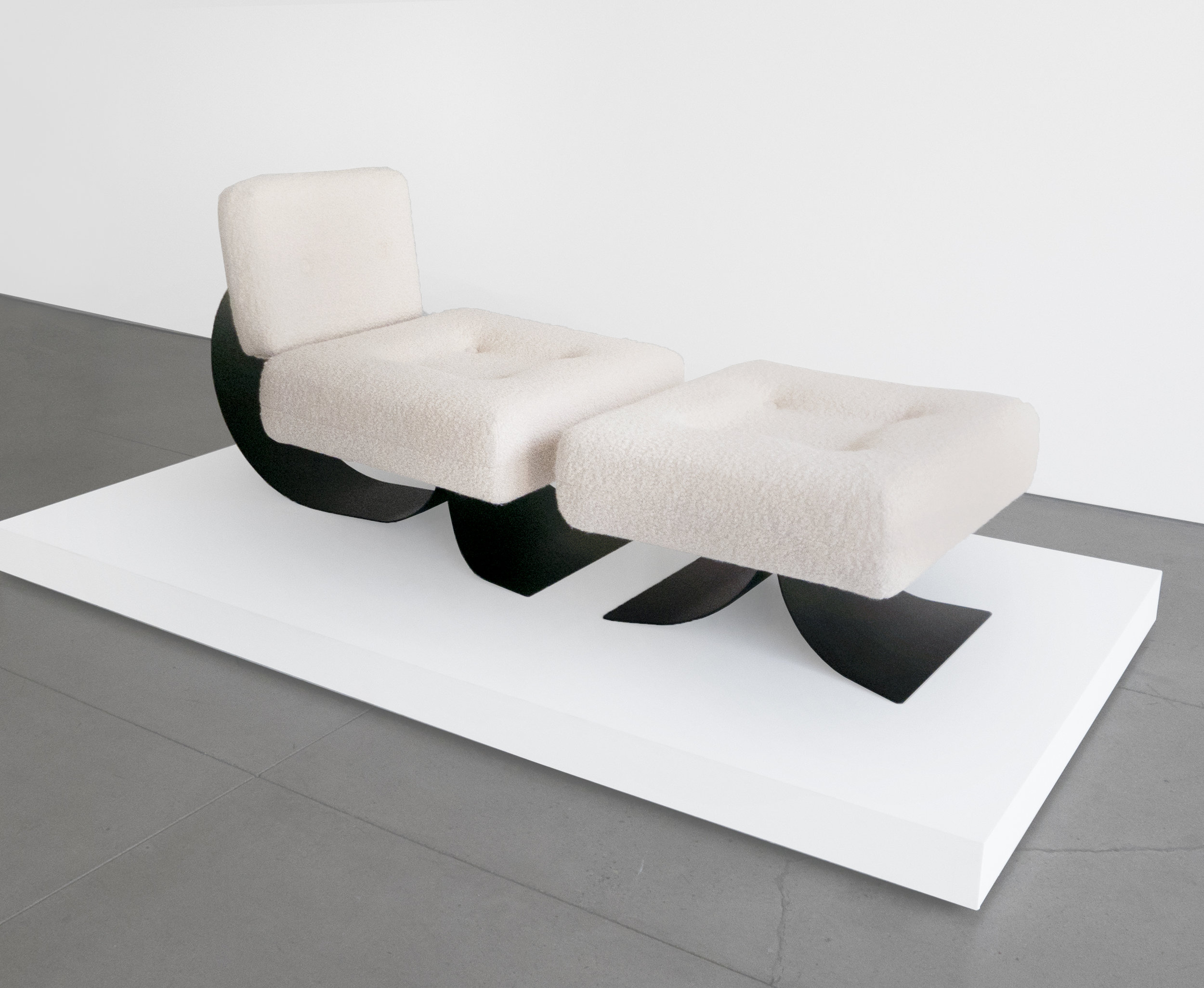 Oscar Niemeyer Attrib. Re-Issue Prototype %22Alta%22 Chair, c.1971, Upholstery, Metal, 32 H x 28 W x 31 D inches_1.jpg