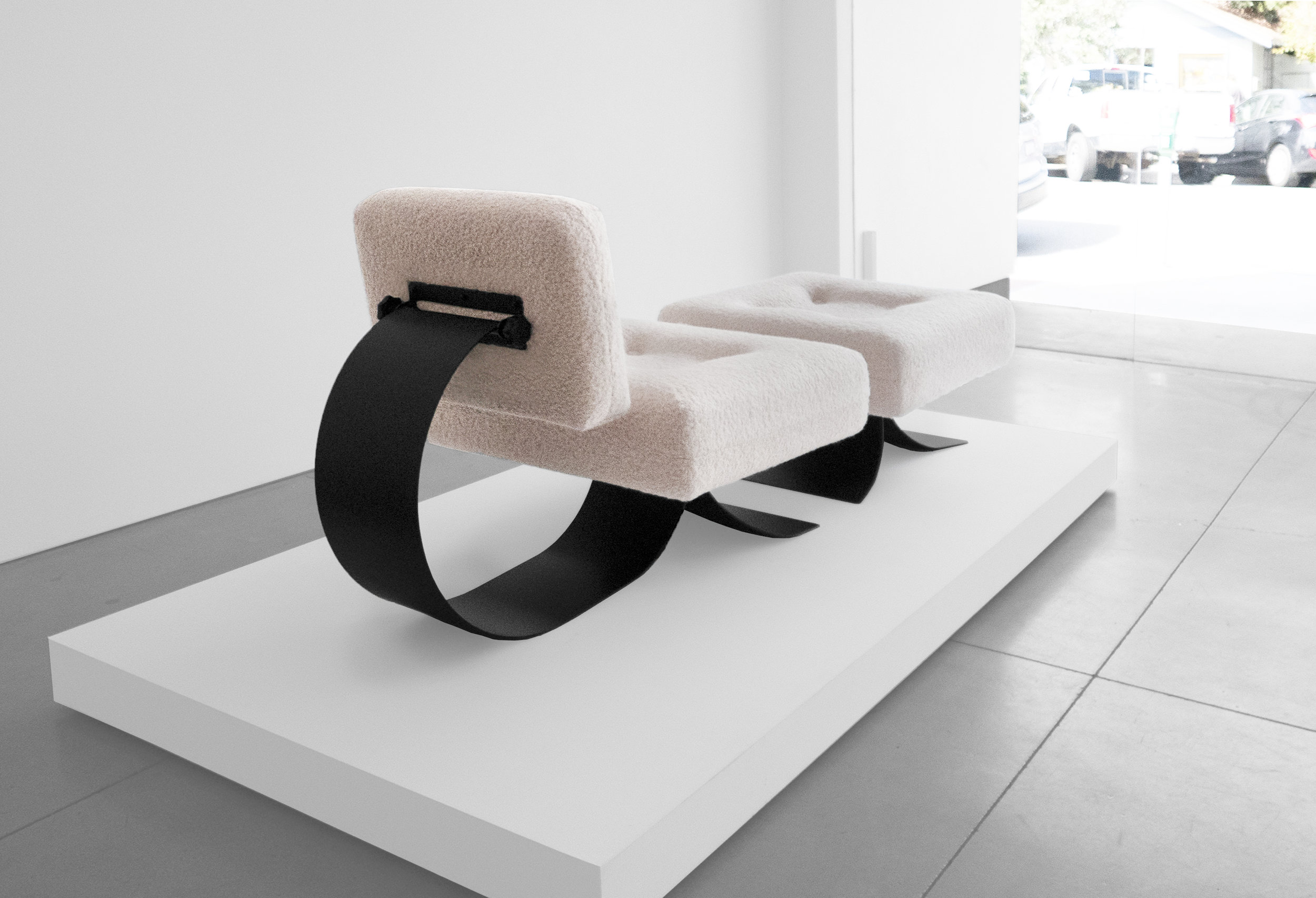 Oscar Niemeyer Attrib. Re-Issue Prototype %22Alta%22 Chair, c.1971, Upholstery, Metal, 32 H x 28 W x 31 D inches_4.jpg