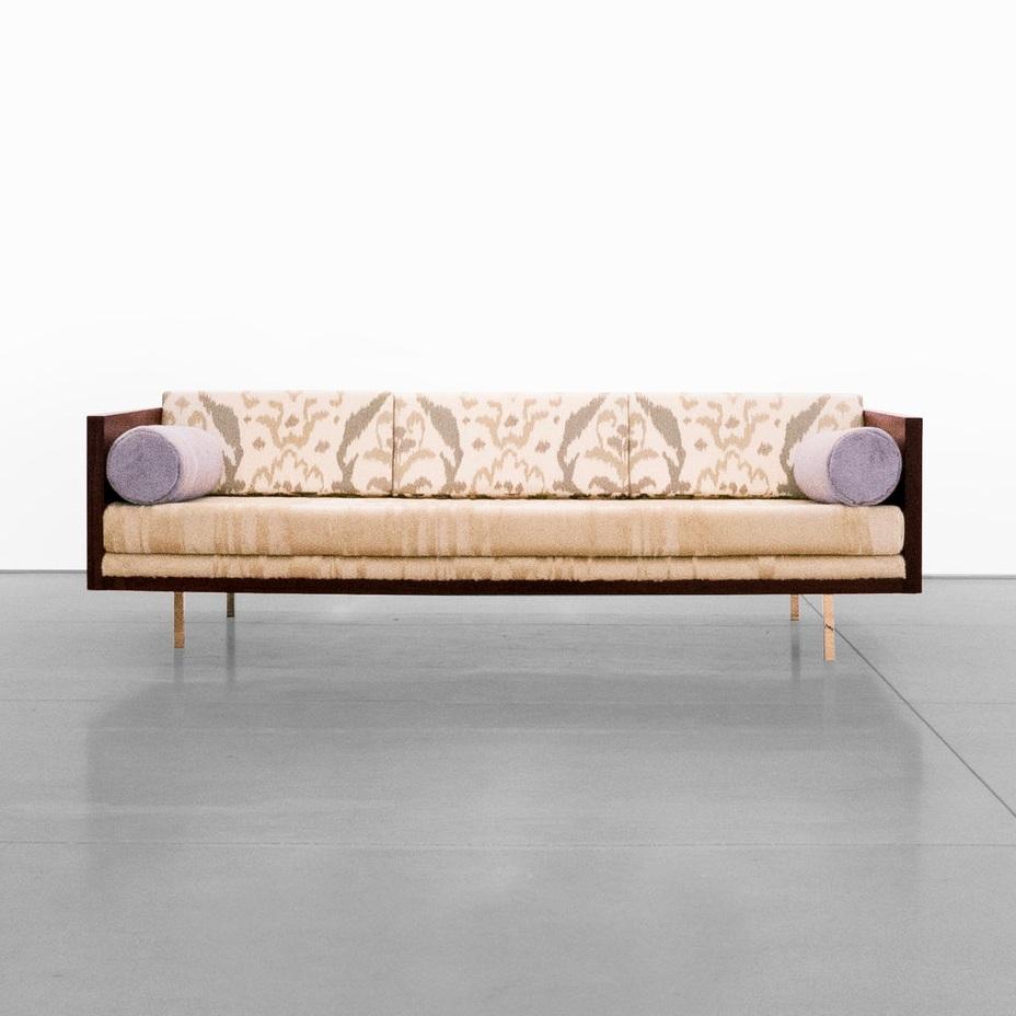 milo baughman rosewood case sofa $19,500