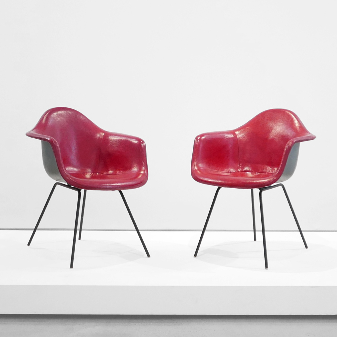 charles and ray eams pair of 'dax' chairs for herman miller $5,000