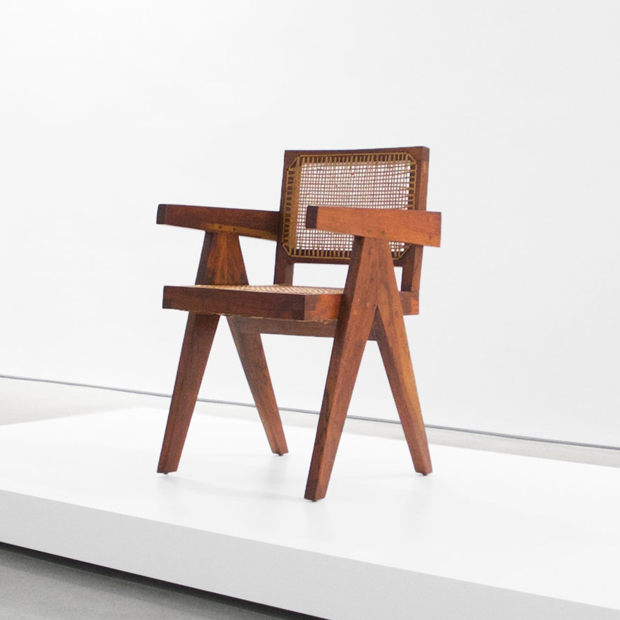 pierre jeanneret  teak conference chair $6,000