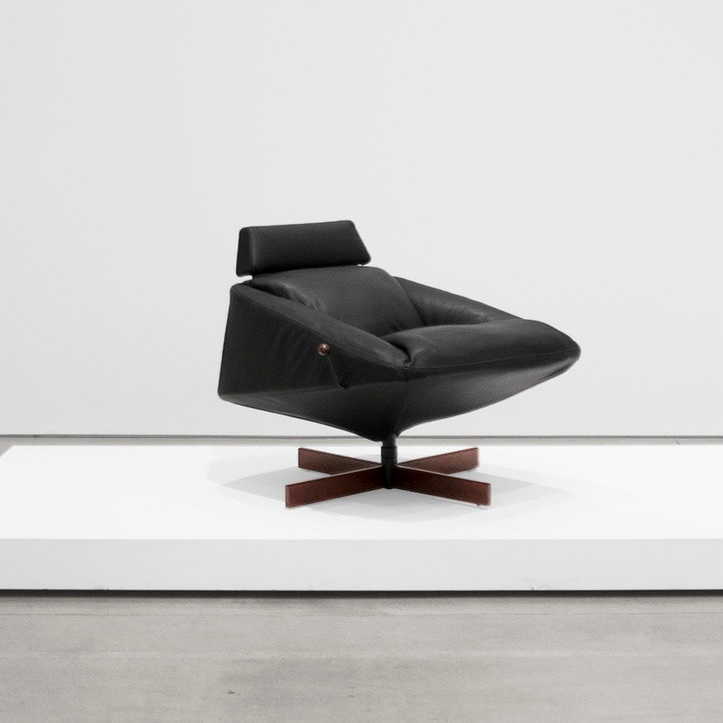 percival lafer  leather armchair sold