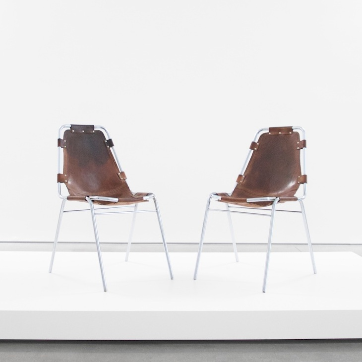 charlotte perriand 'les Arcs' chairs sold