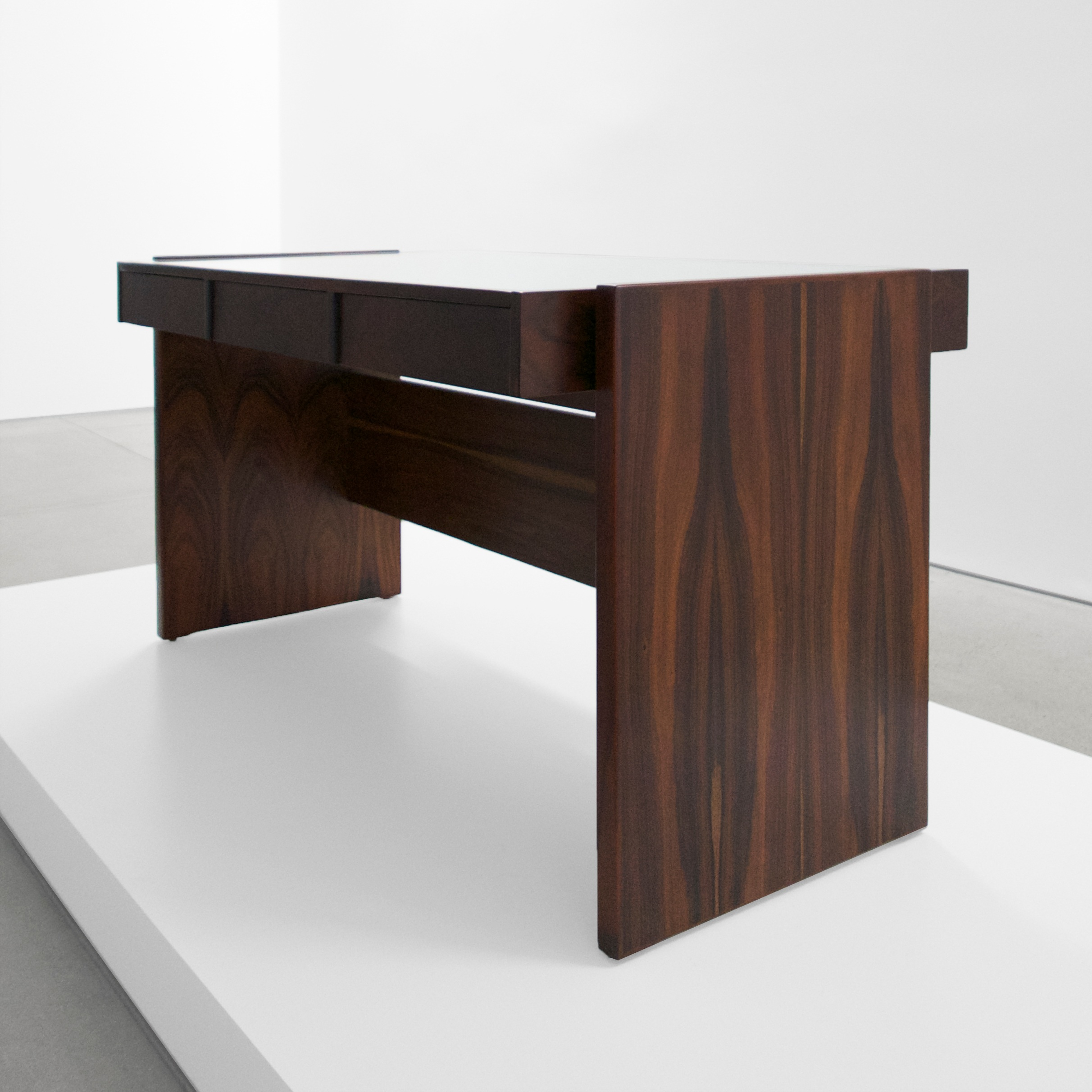 joaquim tenreiro rosewood glass top desk sold