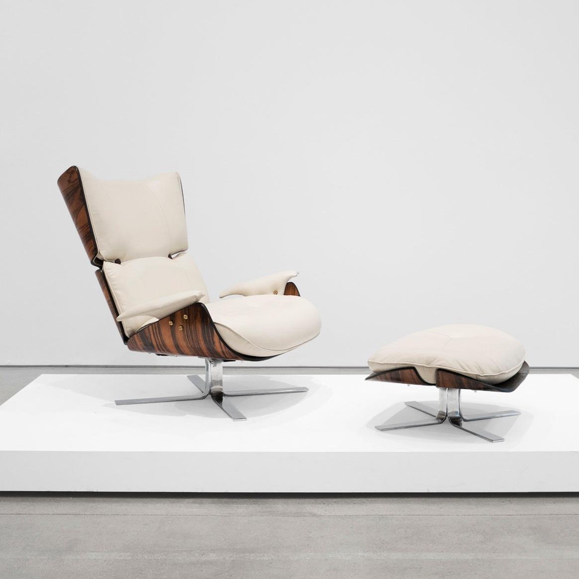 jorge zalszupin paulistana lounge chair & ottoman $32,000