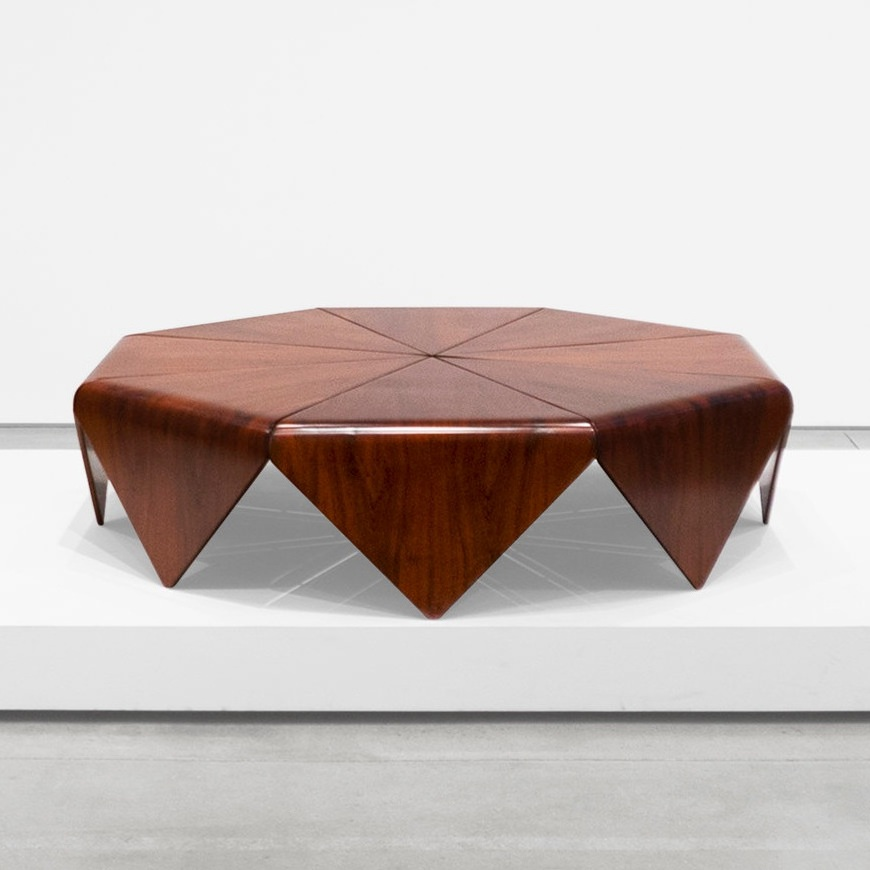 jorge zalszupin 'petalas' coffee table $22,000