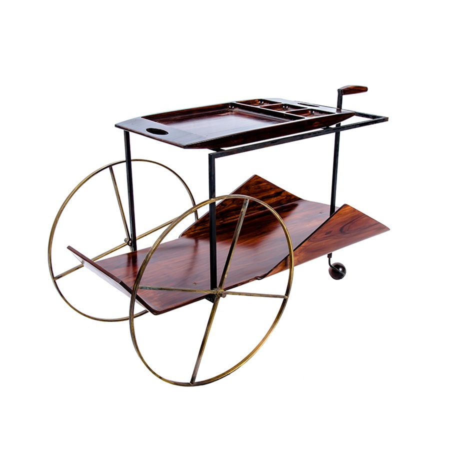 jorge zalszupin tea trolley sold