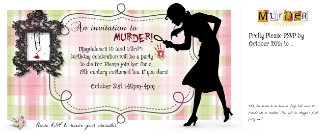 Murder Mystery Party Invitations, Pre-Teen Style