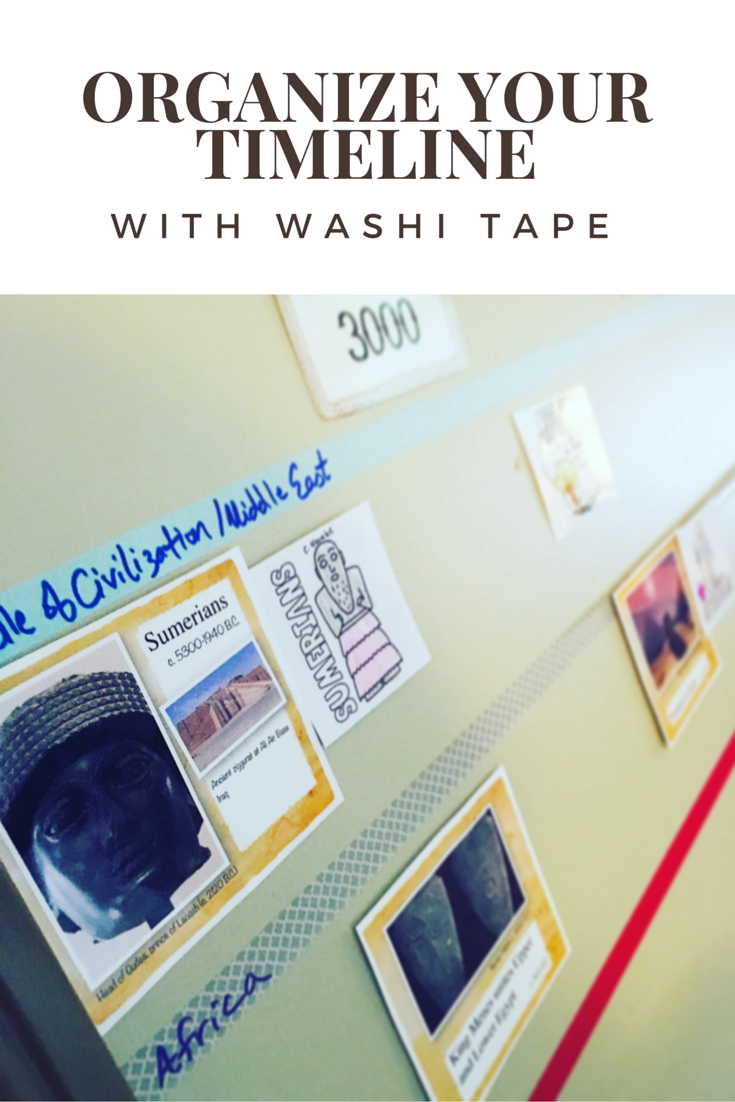 organize your timeline with washi tape