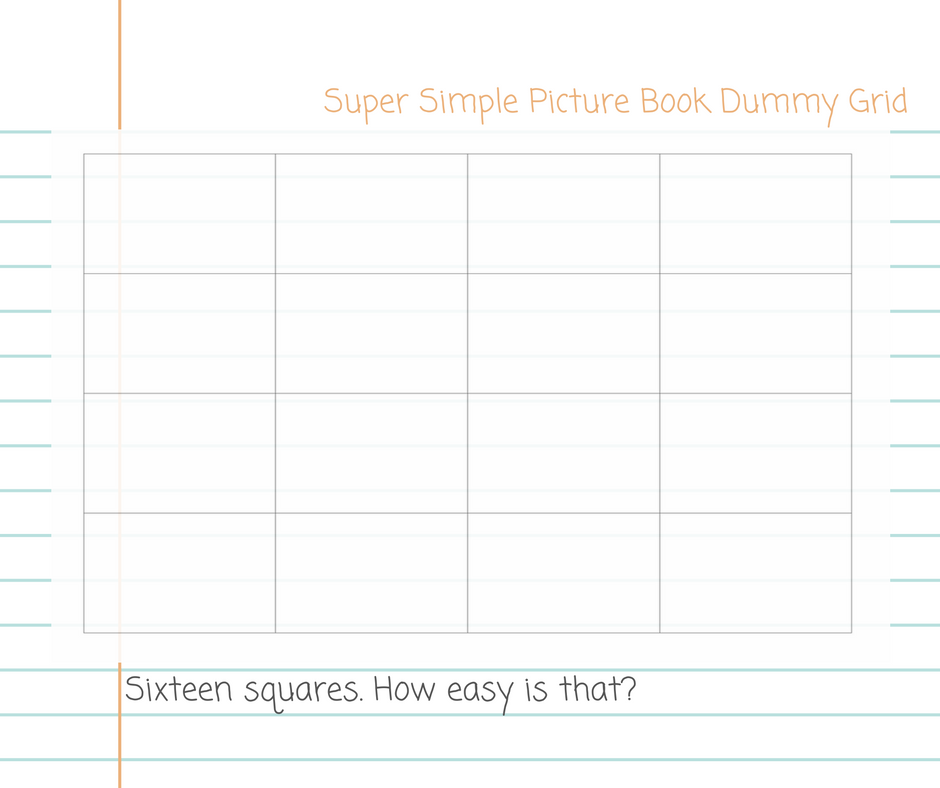 super simple picture book dummy grid