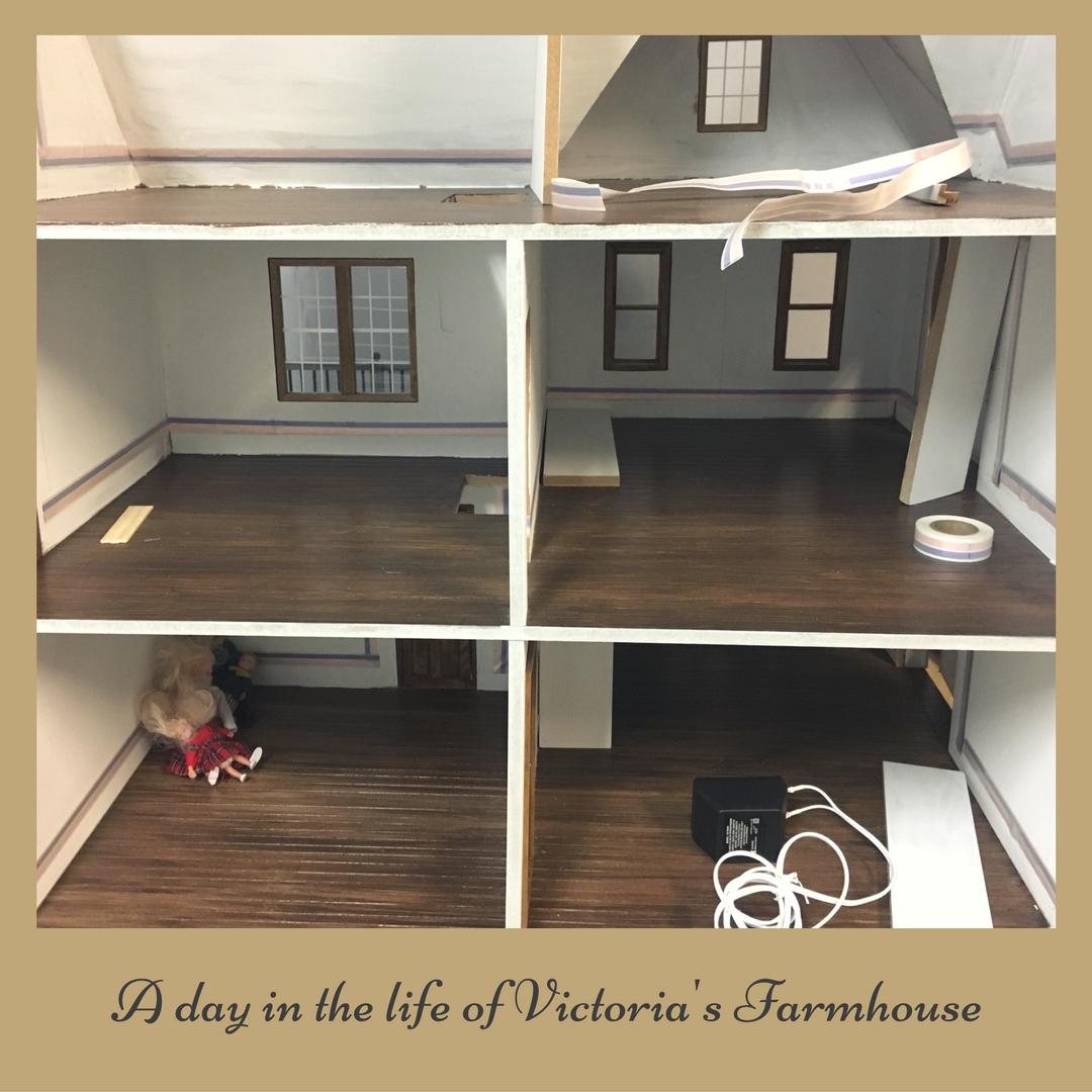 inside victoria's dollhouse construction