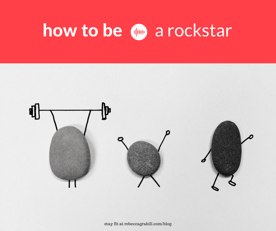 How to be a rockstar: stay healthy by staying active.