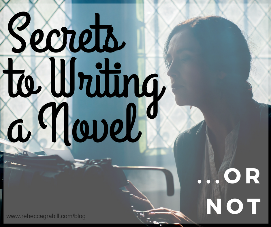 secrets to writing a novel woman writing