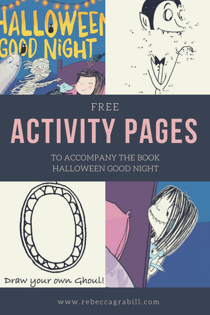 free activity pages for Halloween Good Night