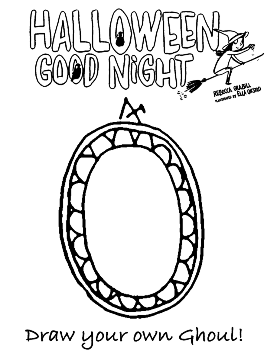 draw your own ghoul worksheet for Halloween Good Night by Rebecca Grabill
