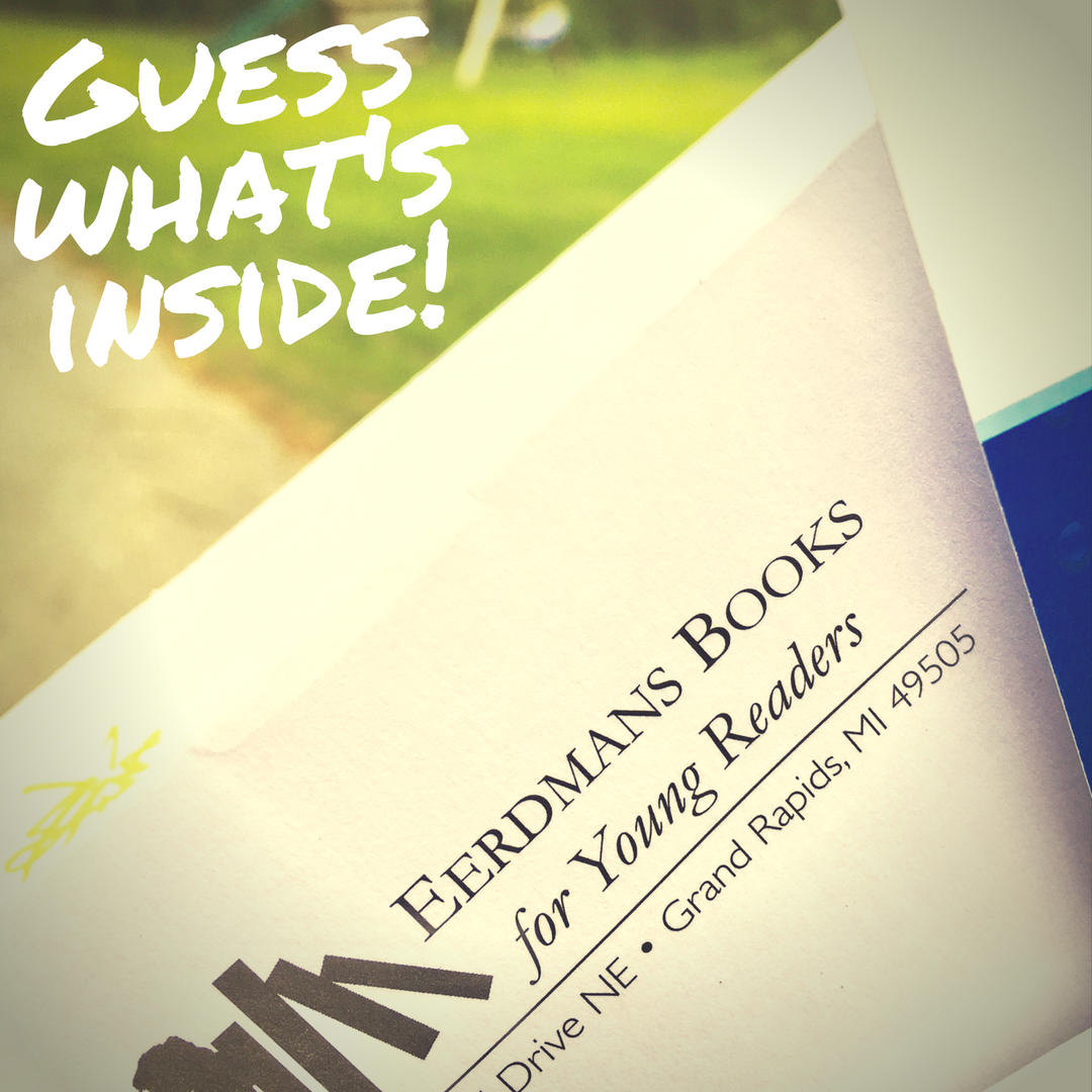 What's inside the envelope? My publishing contract for mama earth's new year